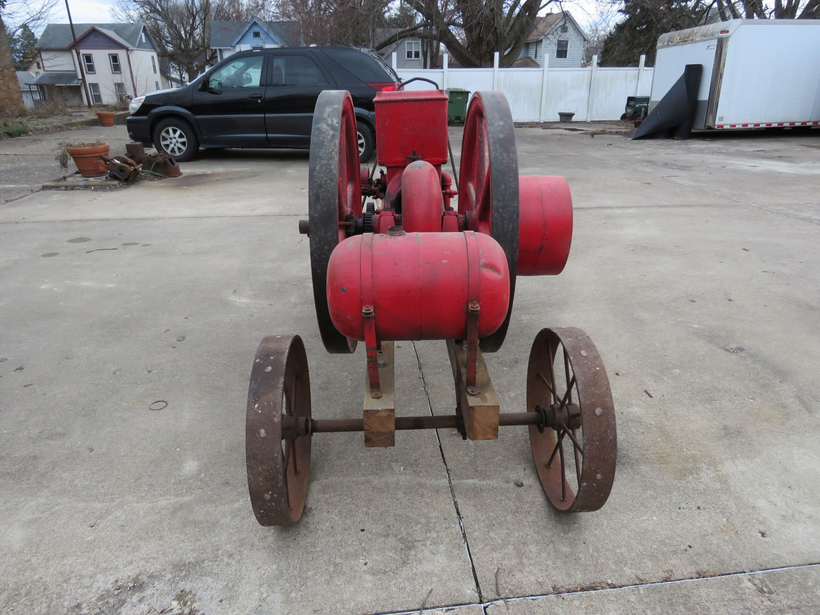Banner 7hp Stationary Gas Engine On Cart with Steel Wheels - Image 4