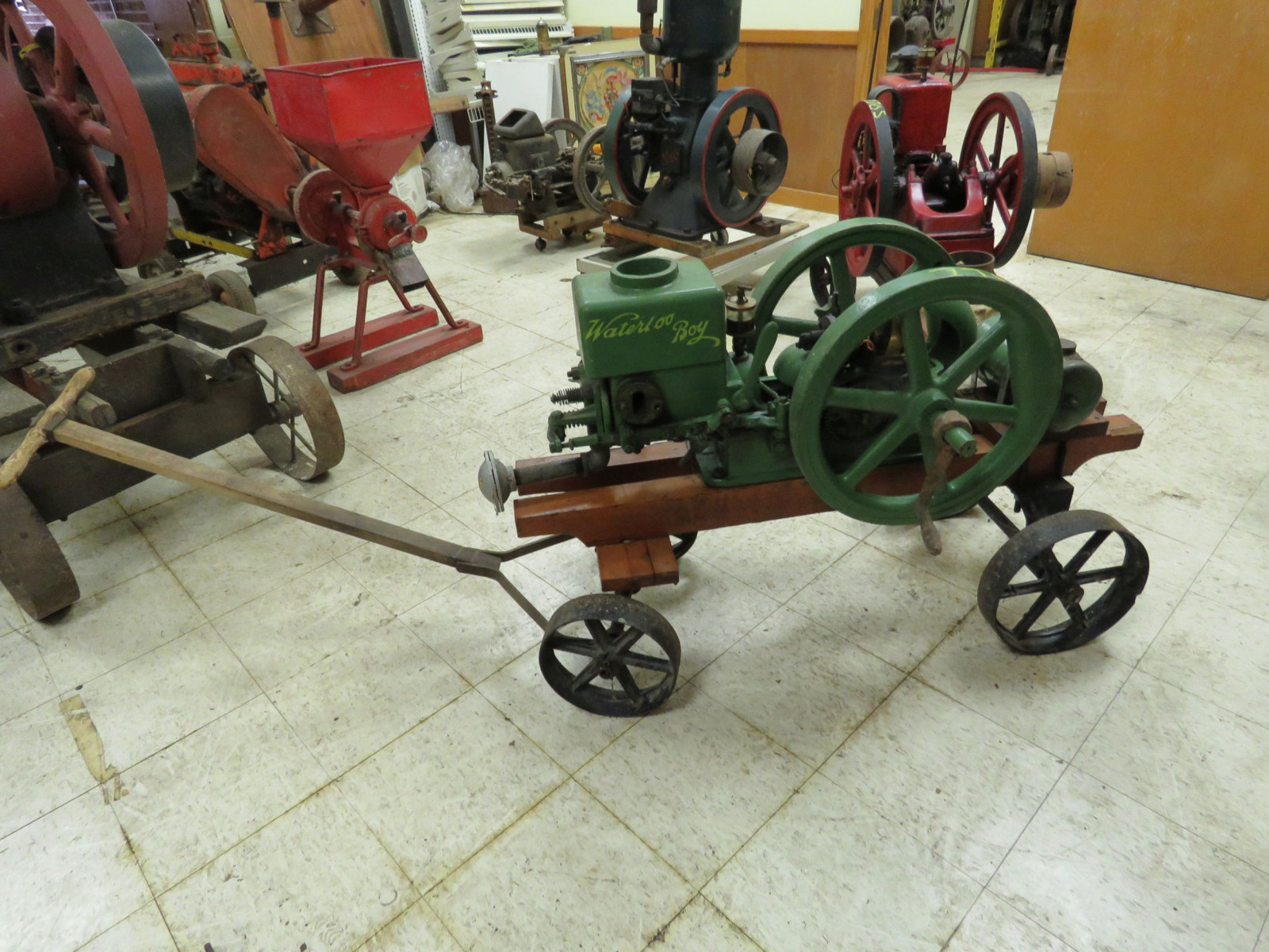 Waterloo Boy Stationary Gas Engine on Cart - Image 1