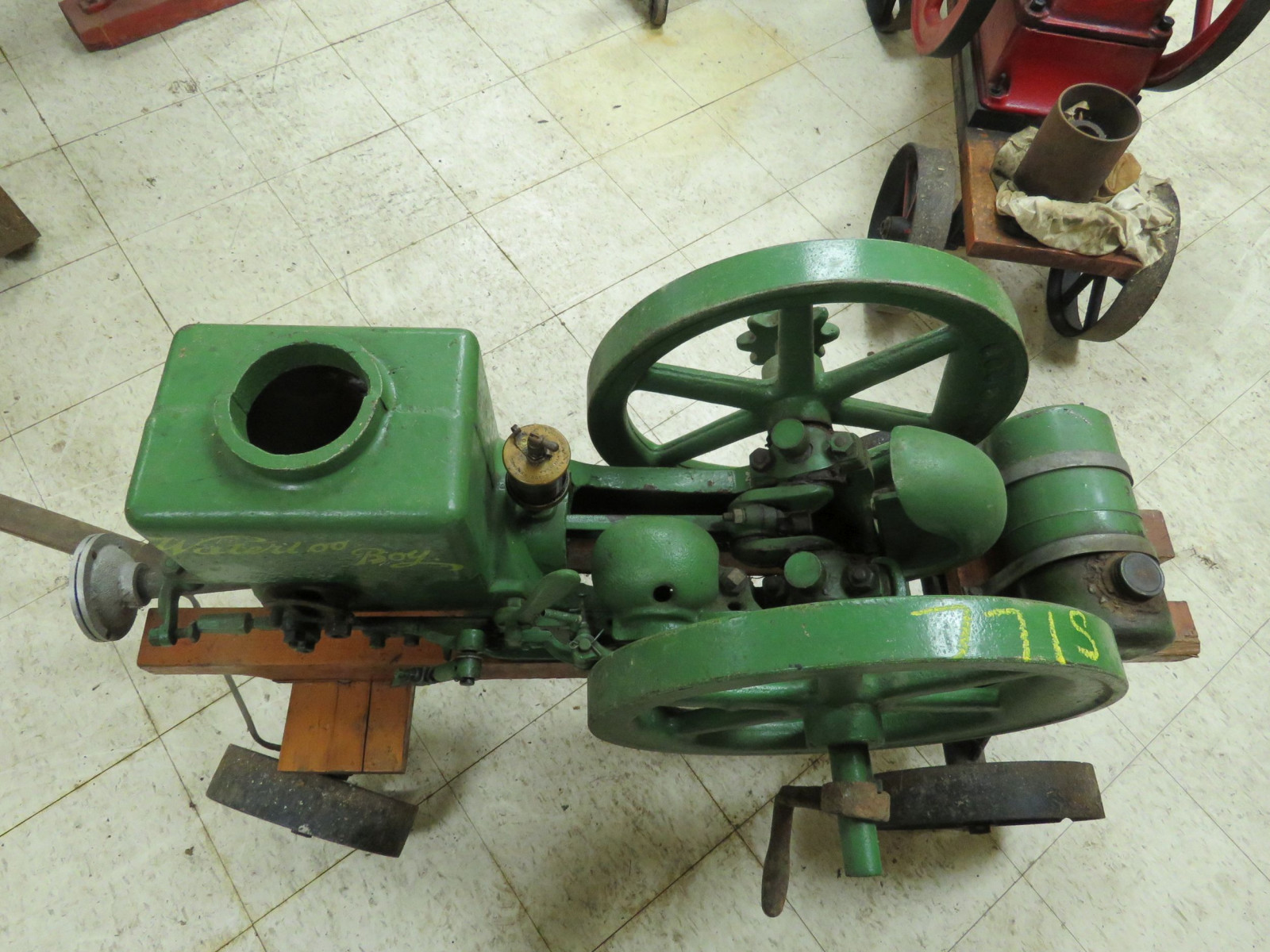 Waterloo Boy Stationary Gas Engine on Cart - Image 3