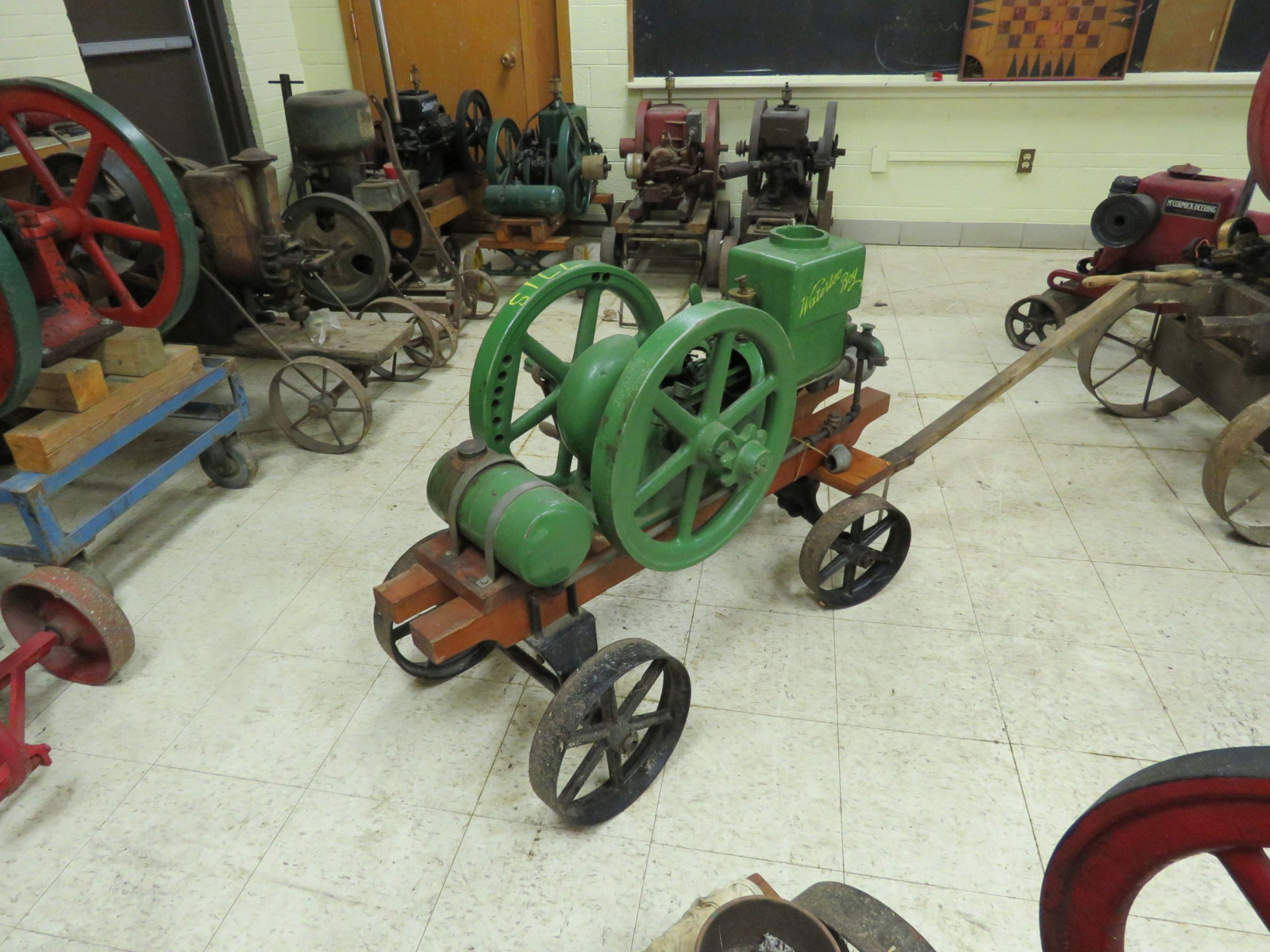 Waterloo Boy Stationary Gas Engine on Cart - Image 4
