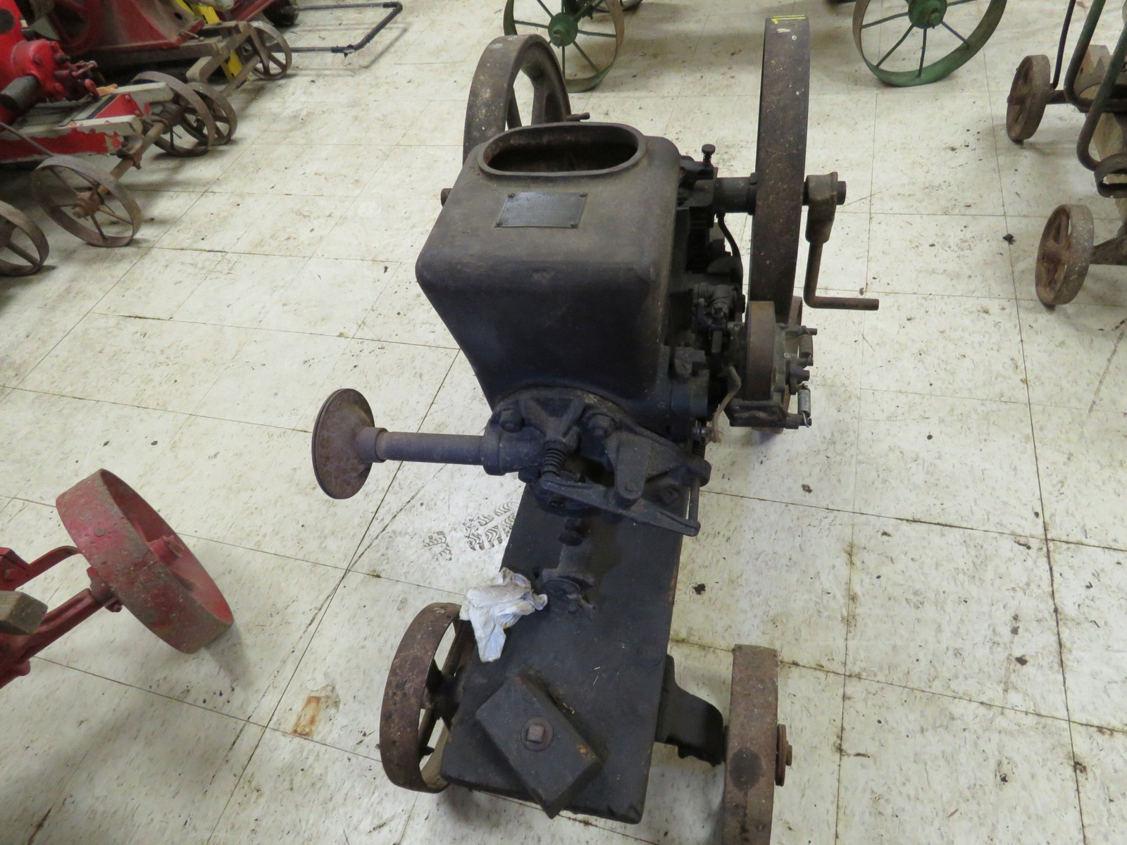 Worthington 1 1/2hp Gasoline Engine On Cart - Image 4