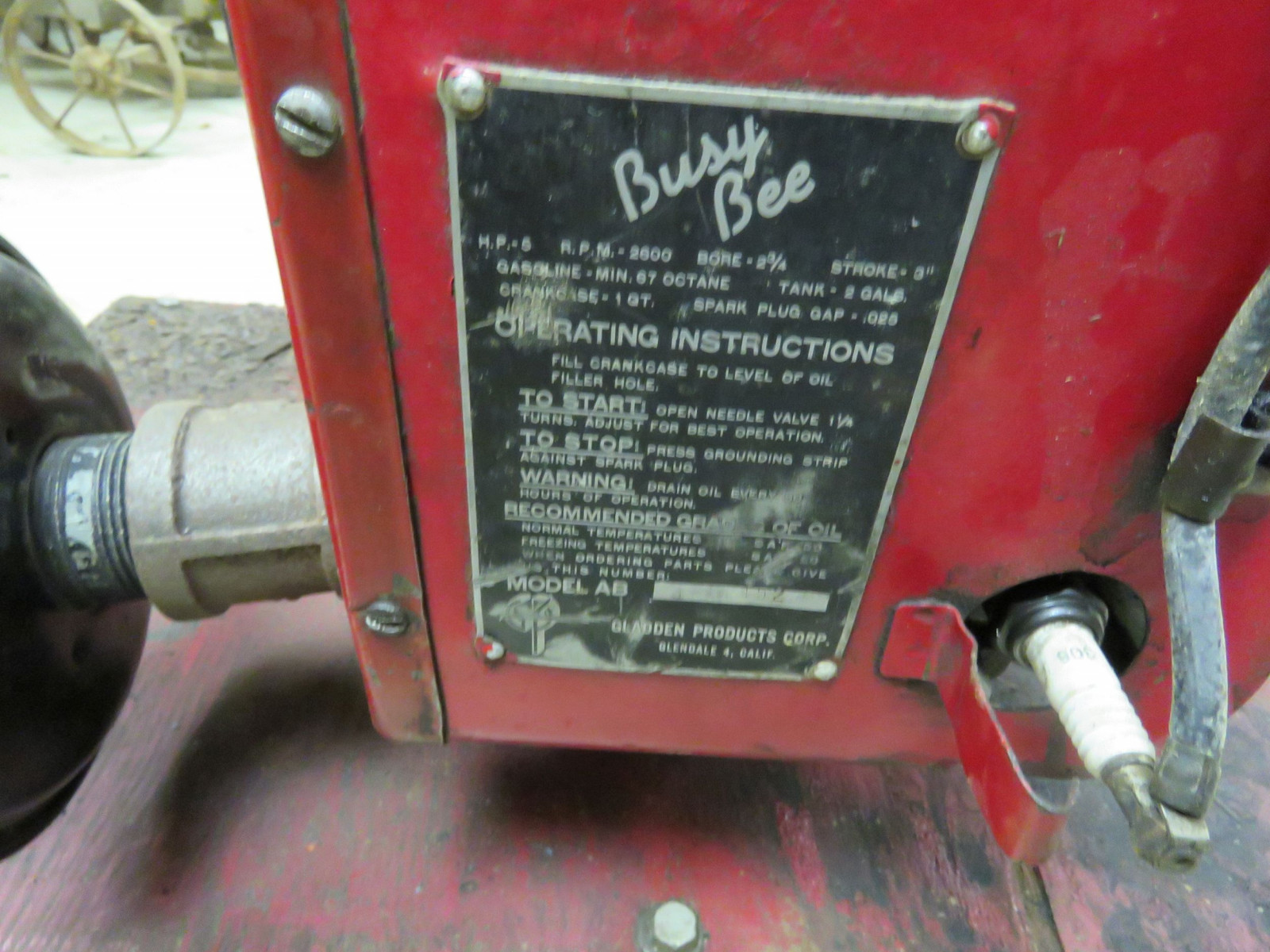 1945 Busy Bee Air Cooled Engine 3-1152 - Image 3