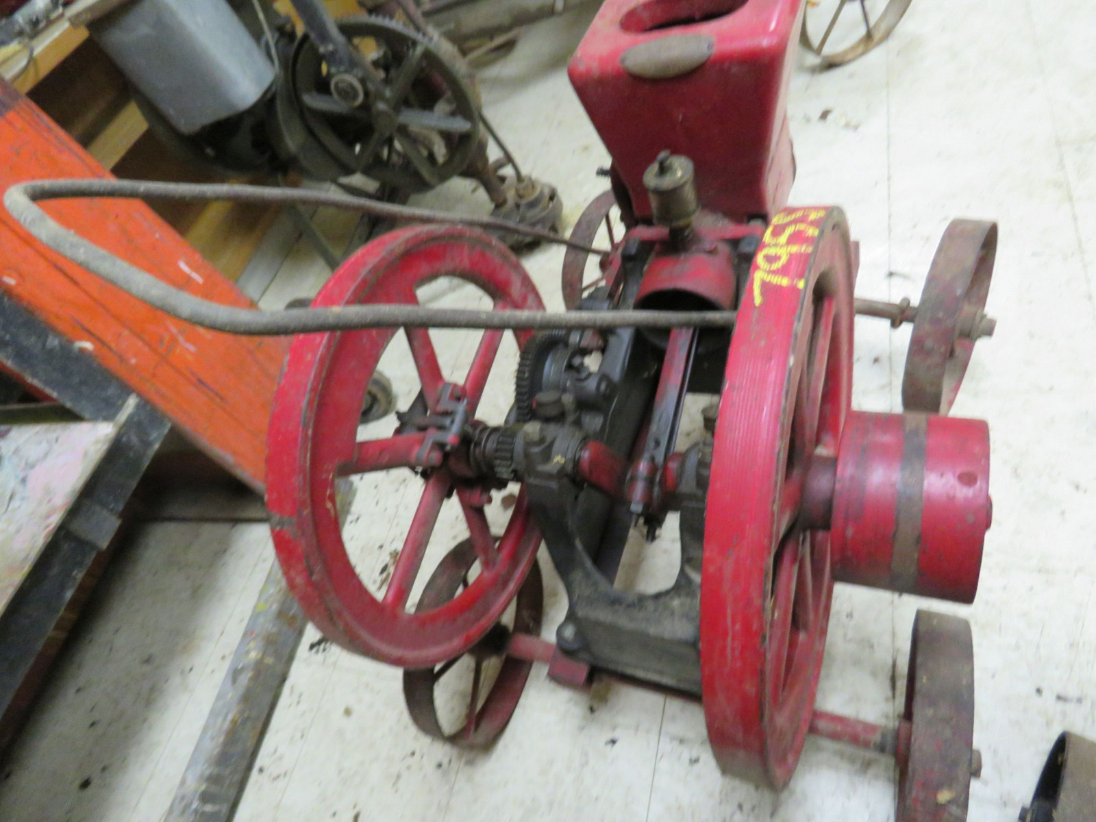 Associated 2 1/4 HP Gas Engine on Cart - Image 3