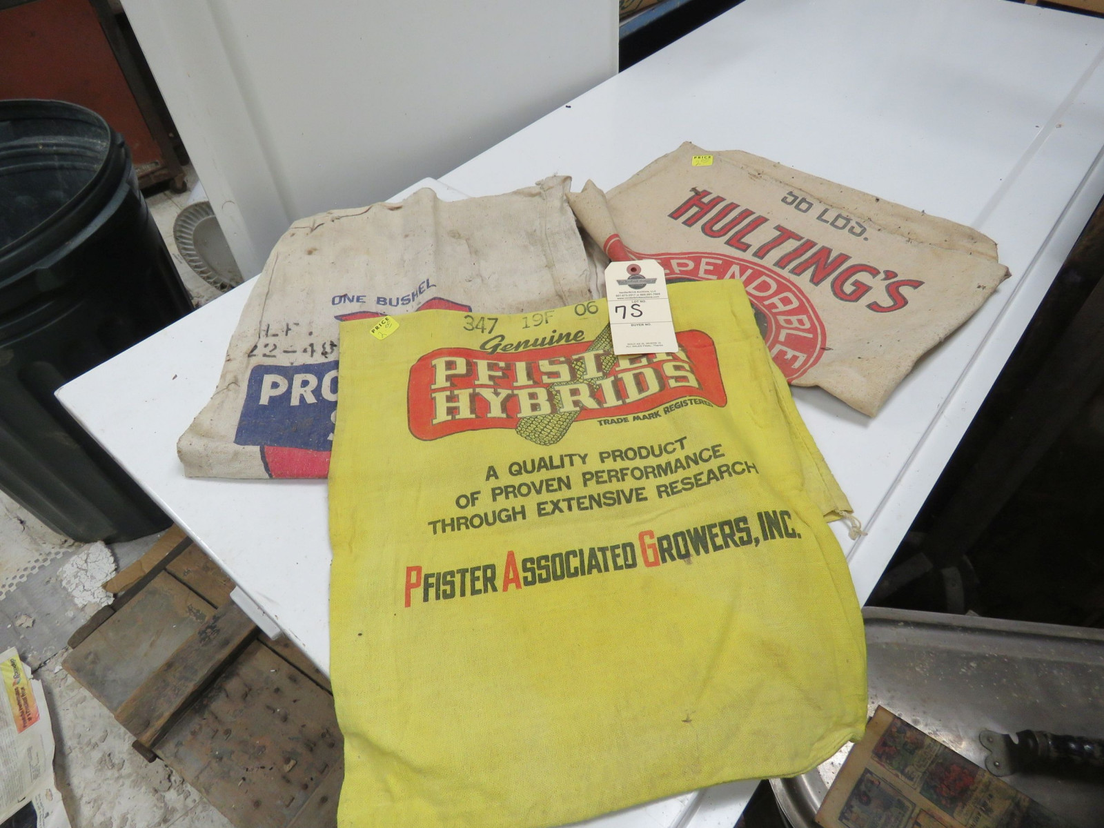 Antique Feed and Seed Bags - Image 1