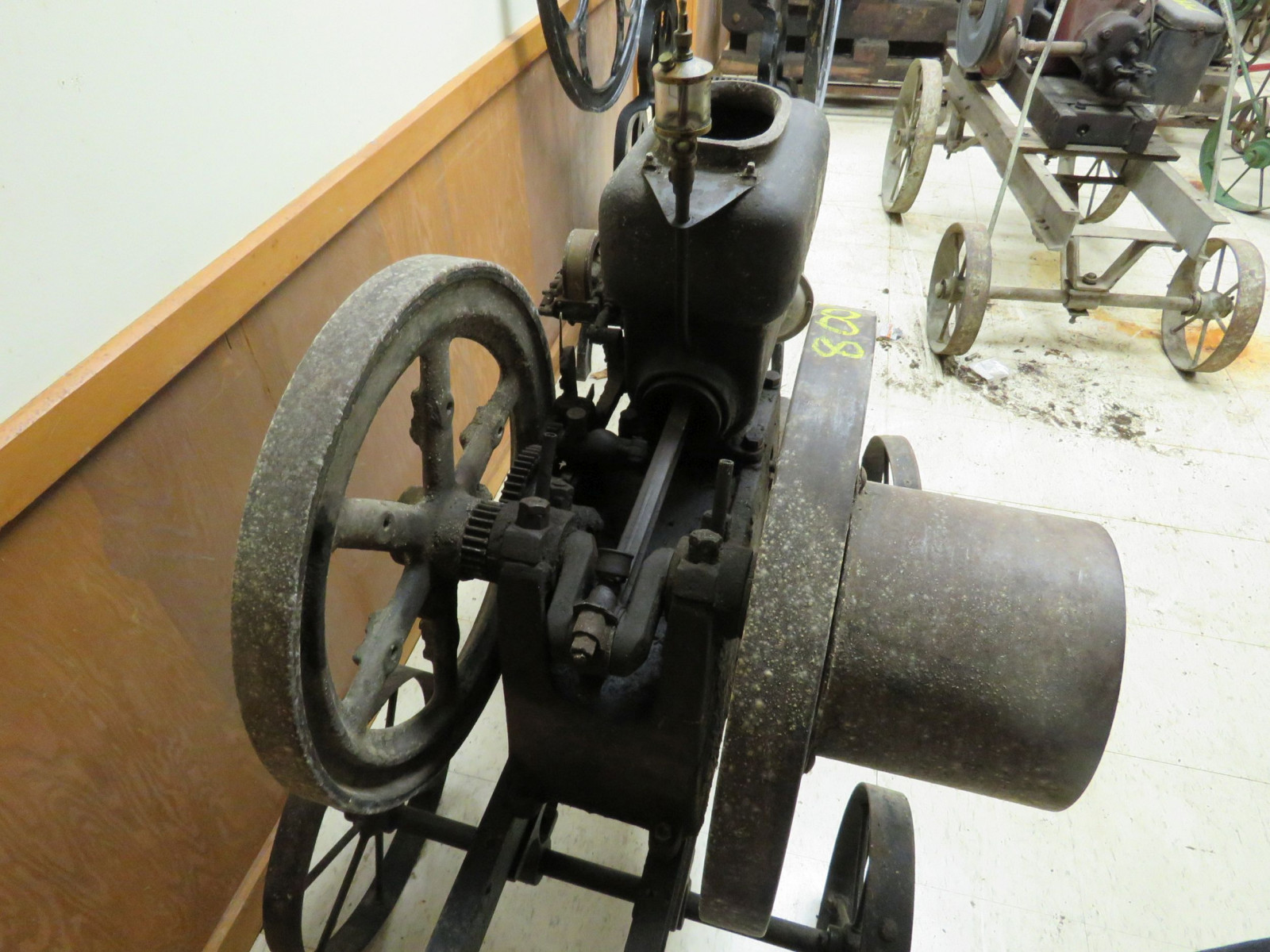 Original 3hp Stationary Gas Engine on Cart - Image 4