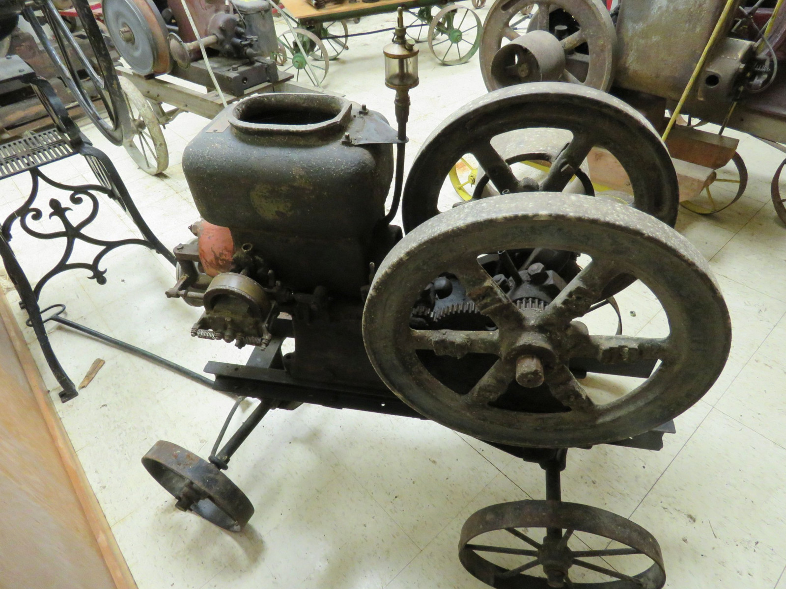 Original 3hp Stationary Gas Engine on Cart - Image 6