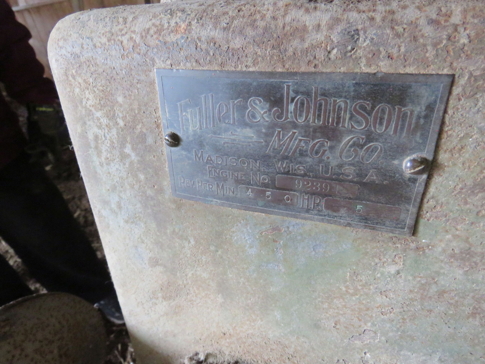 Fuller & Johnson 5HP Stationary Gas Engine - Image 3