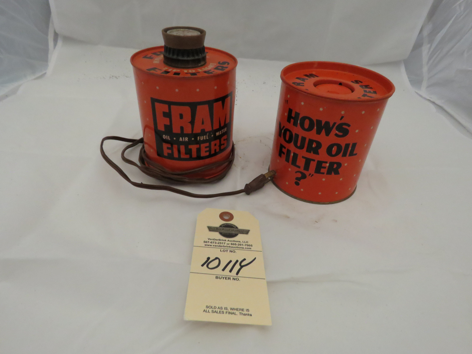 Fram Oil Cigar Lighter and Ashtray - Image 1