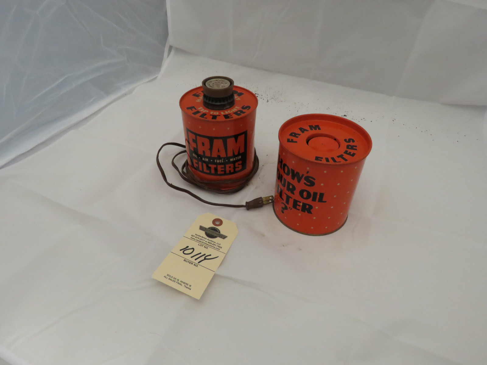 Fram Oil Cigar Lighter and Ashtray - Image 2