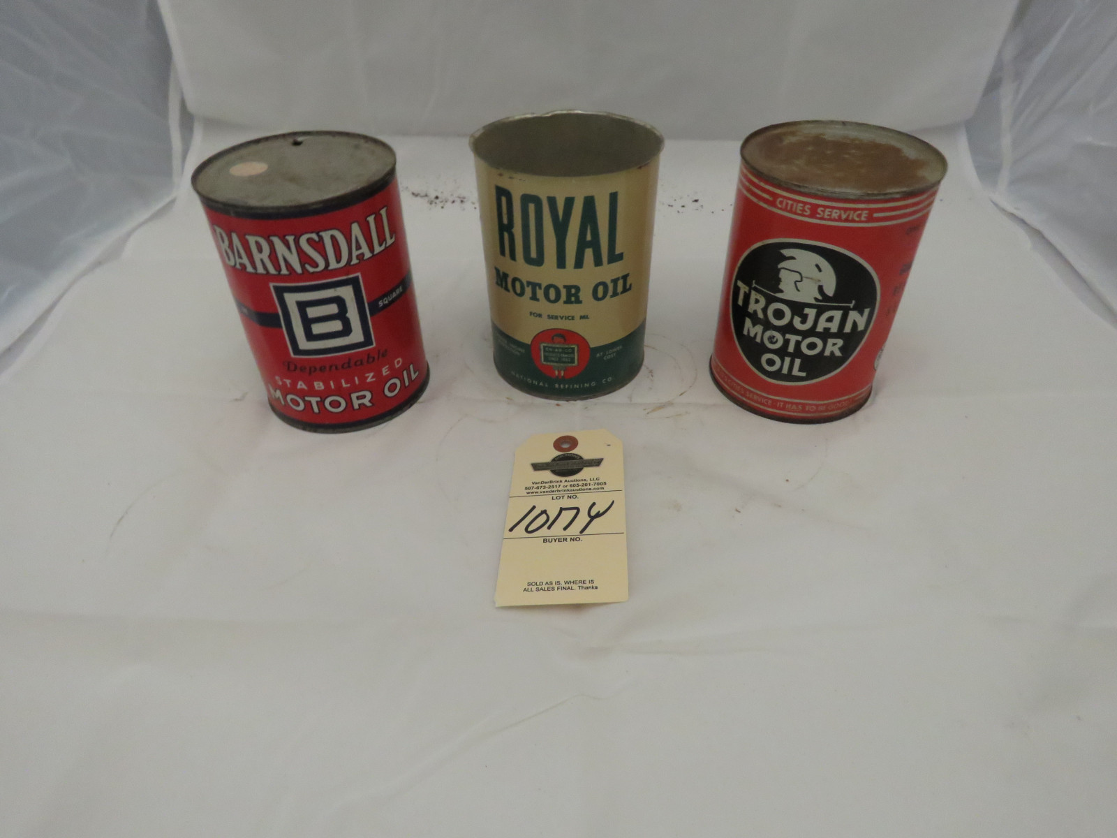 Barnsdall , Trogan Oil and other can group - Image 1