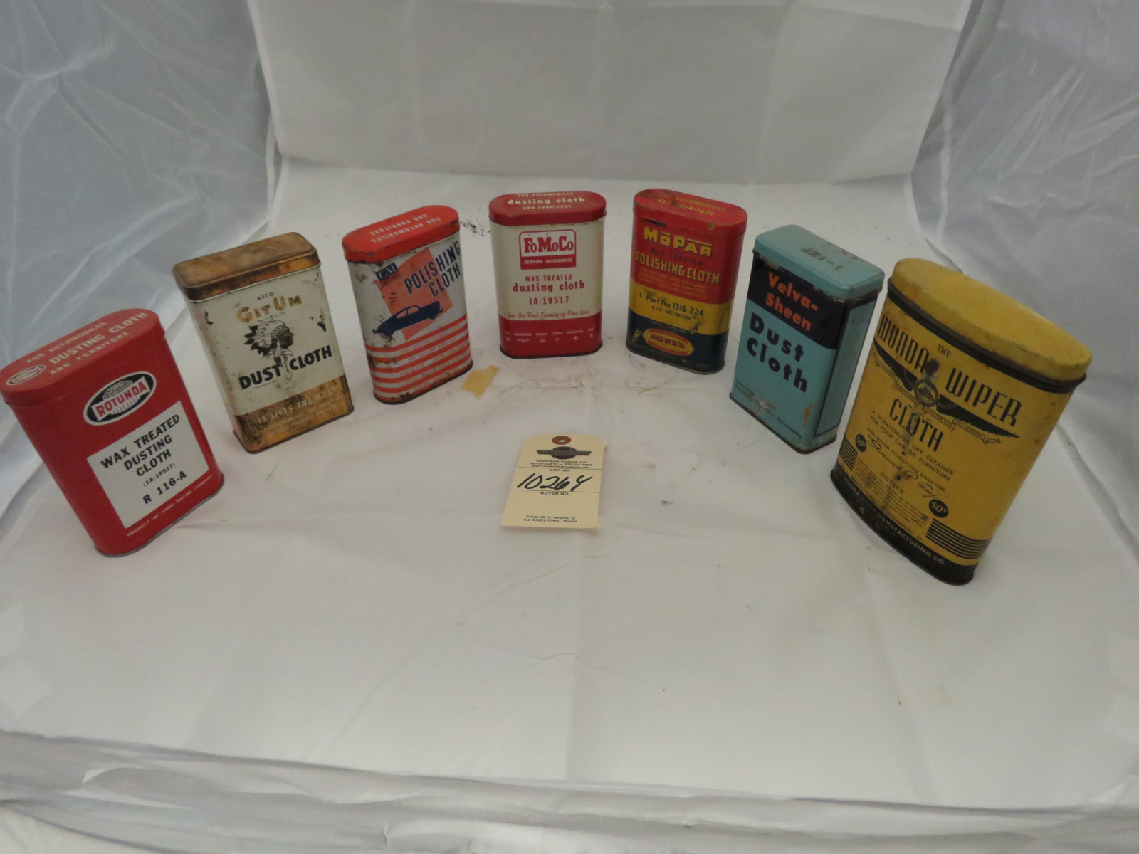 Vintage Car Cloth in Cans Various Brands - Image 1