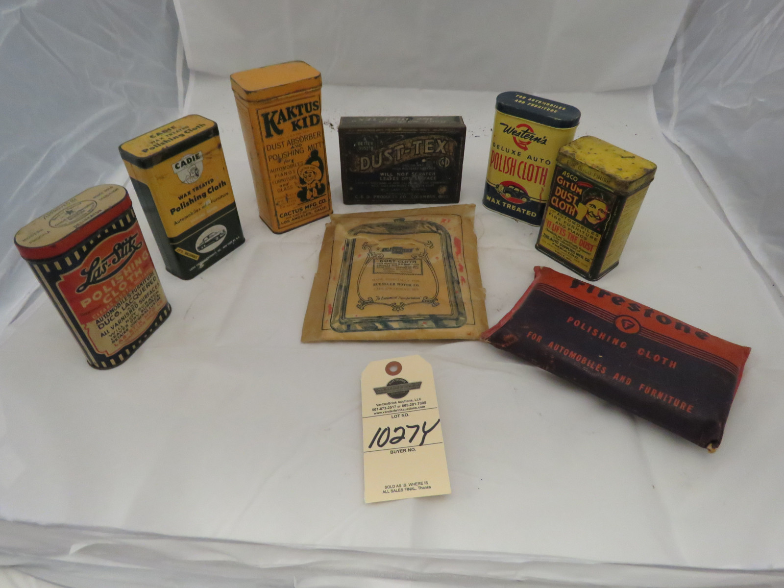 Vintage Dusting Cloths with Advertising - Image 1