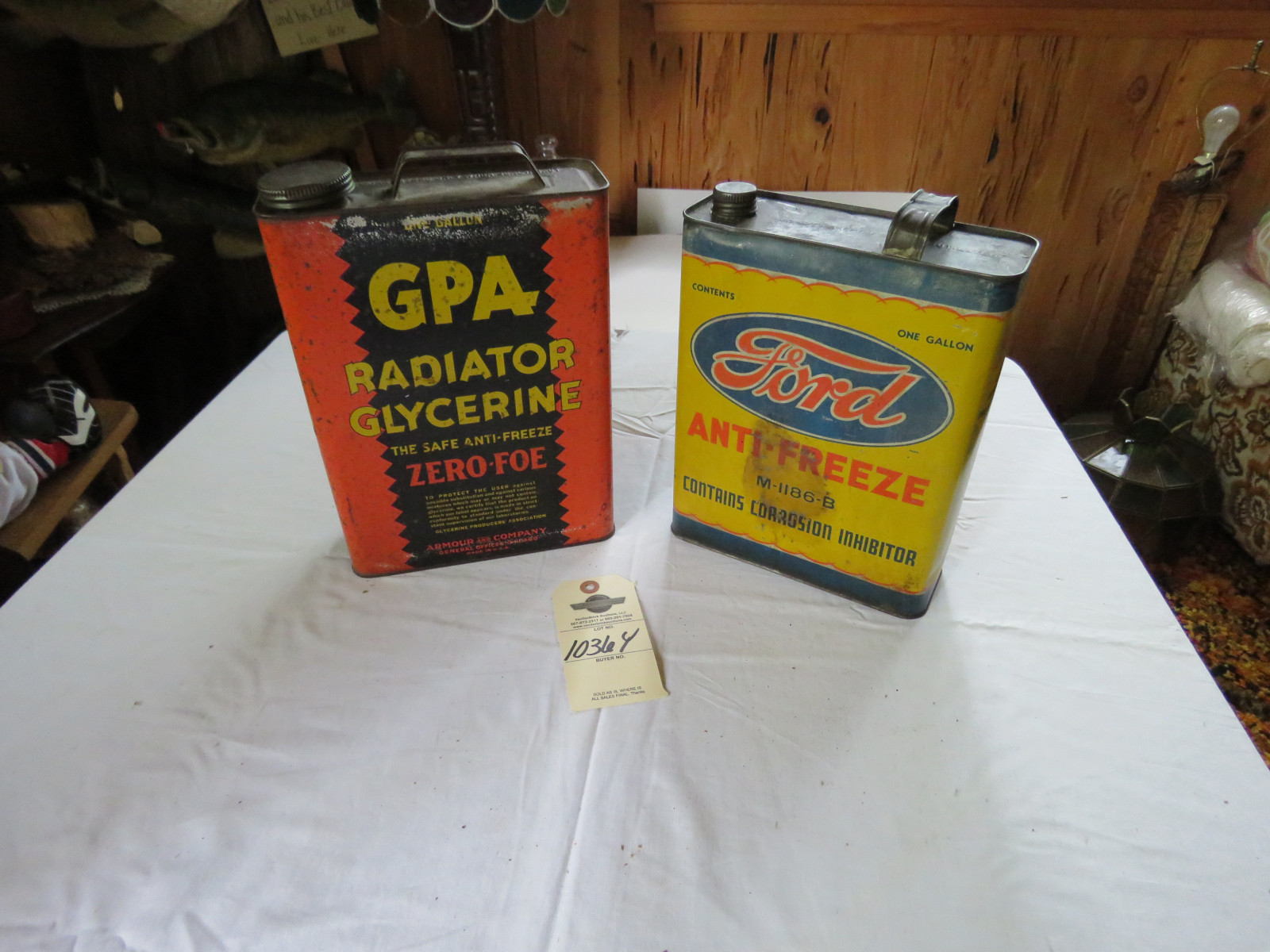 Vintage Antifreeze Can Group - Image 1
