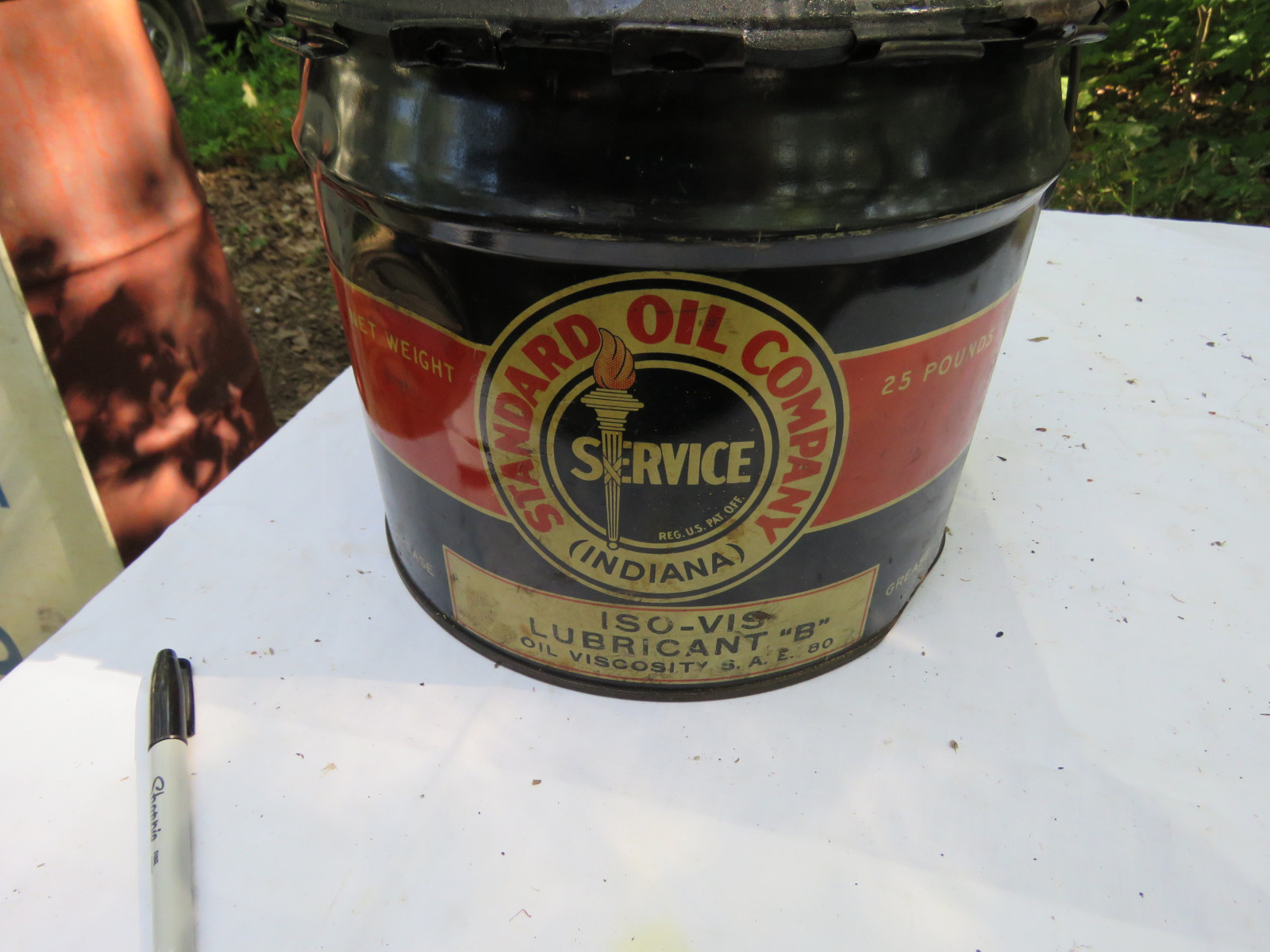 Standard Oil Grease Can - Image 2