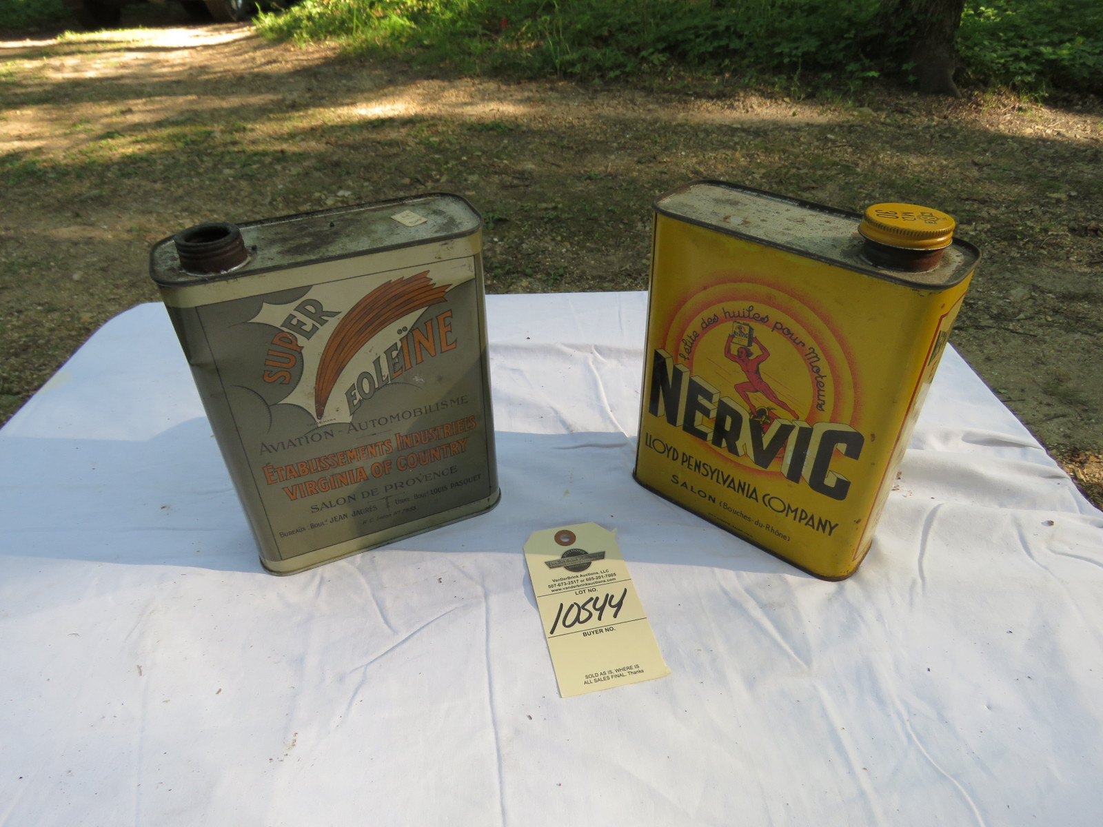 Super Eoleine and Nervic Oil Cans Empty - Image 1