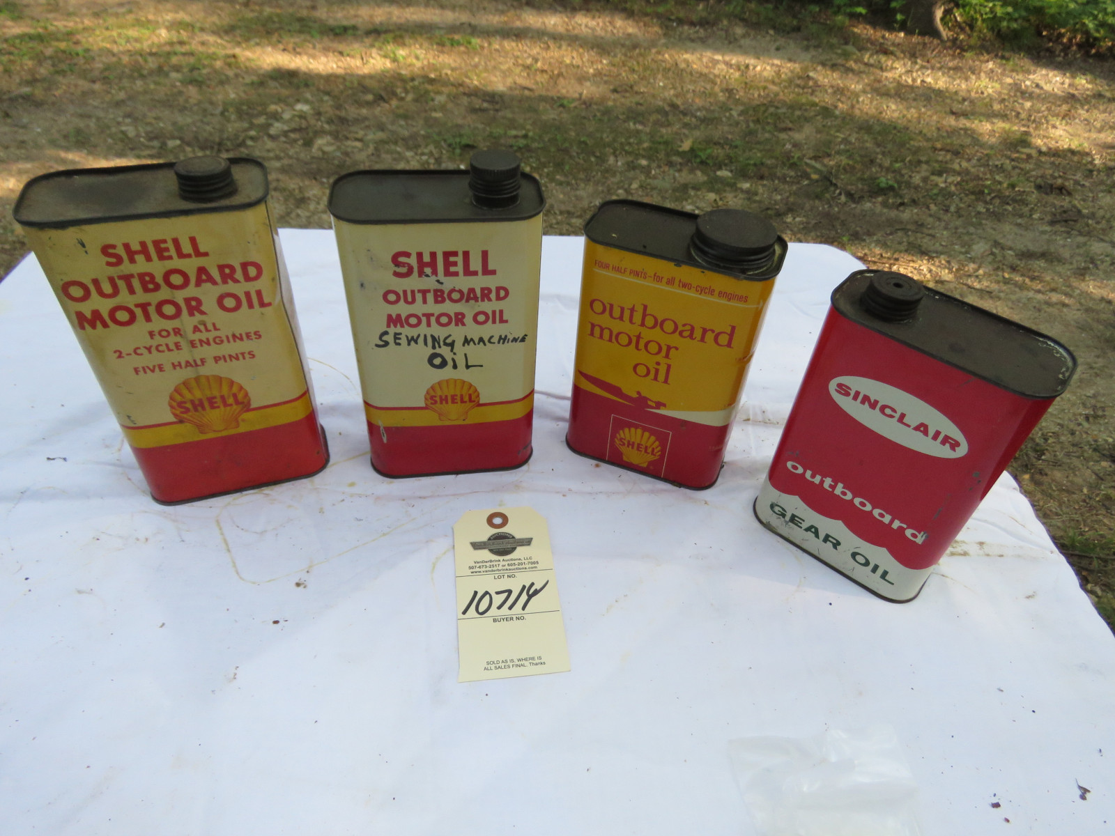 Vintage Motor Oil Can Grouping - Image 1