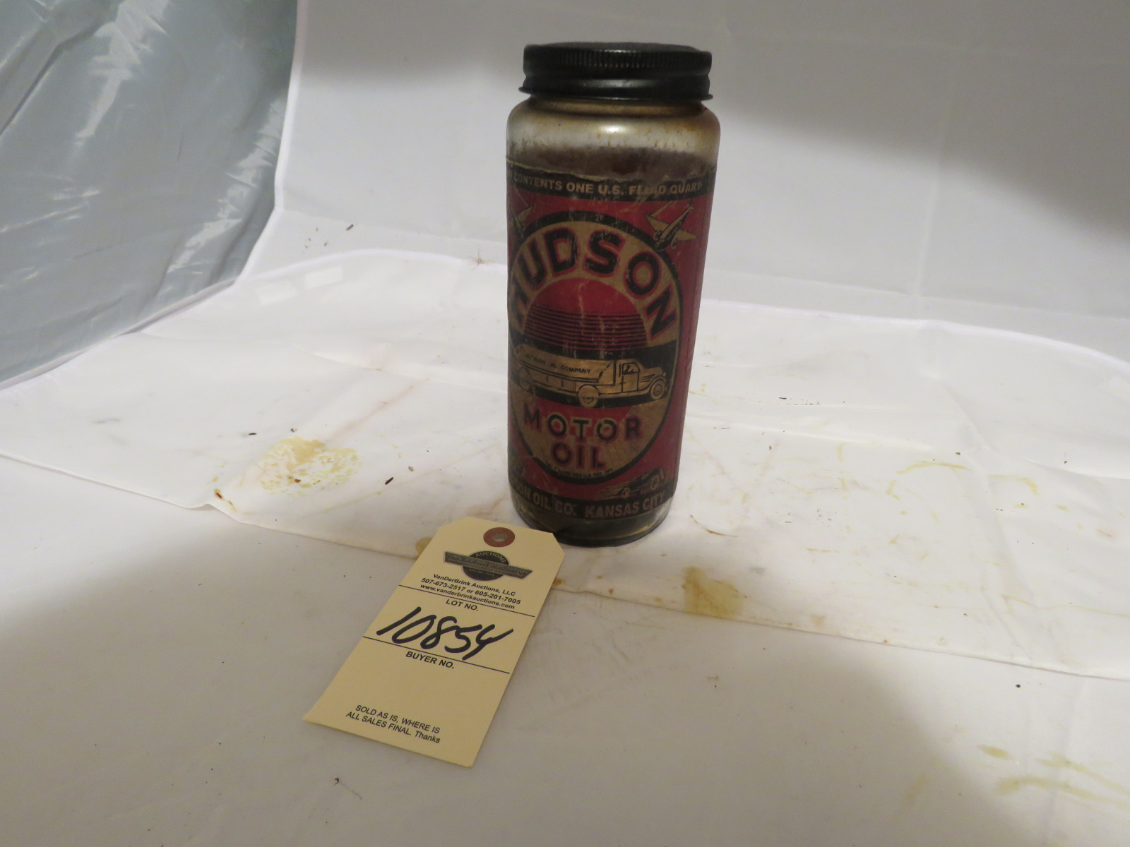 Hudson Motor Oil Can - Image 1