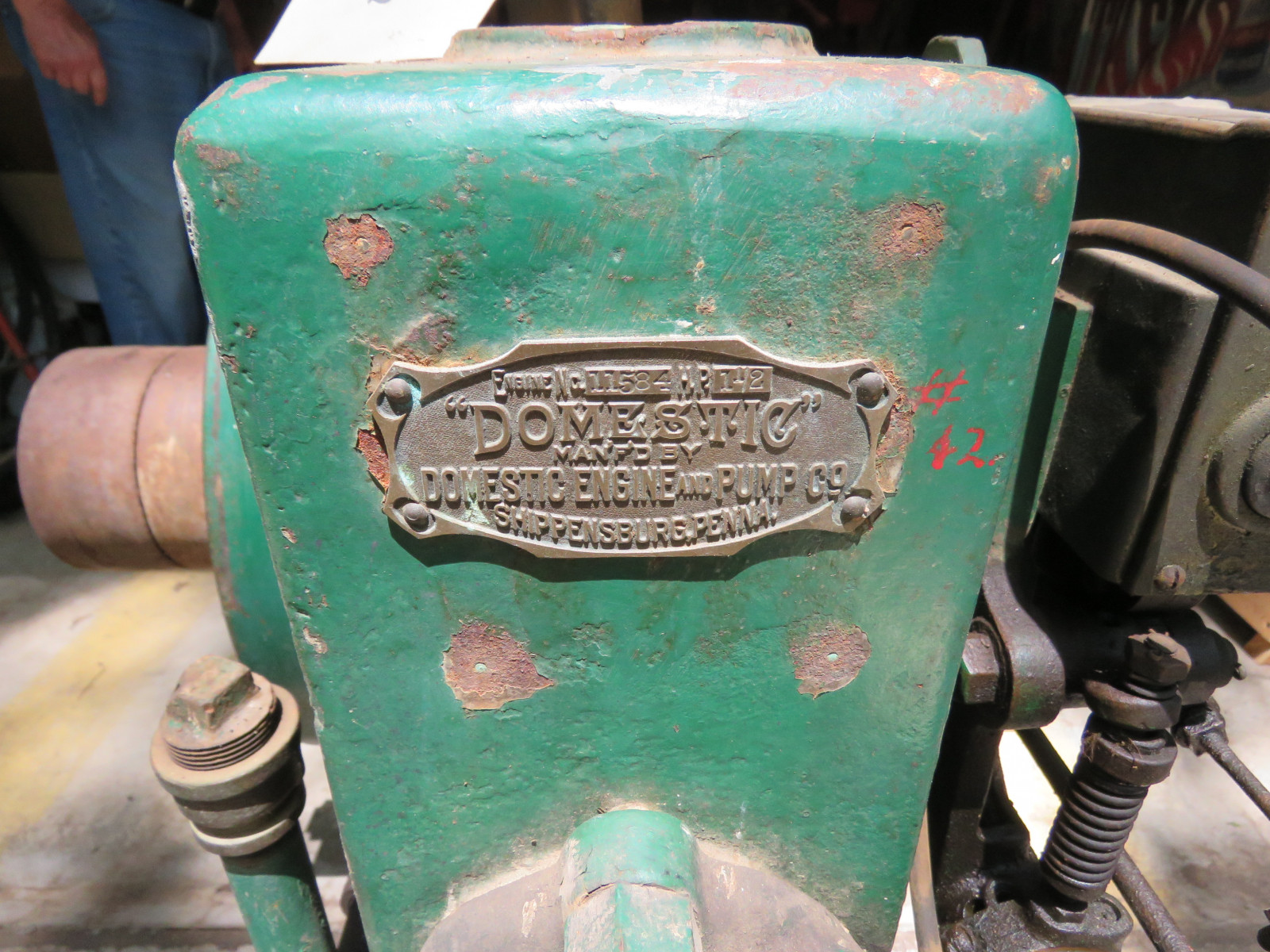 Domestic Side Shaft 1 1/2HP Stationary Gas Engine on Cart - Image 4