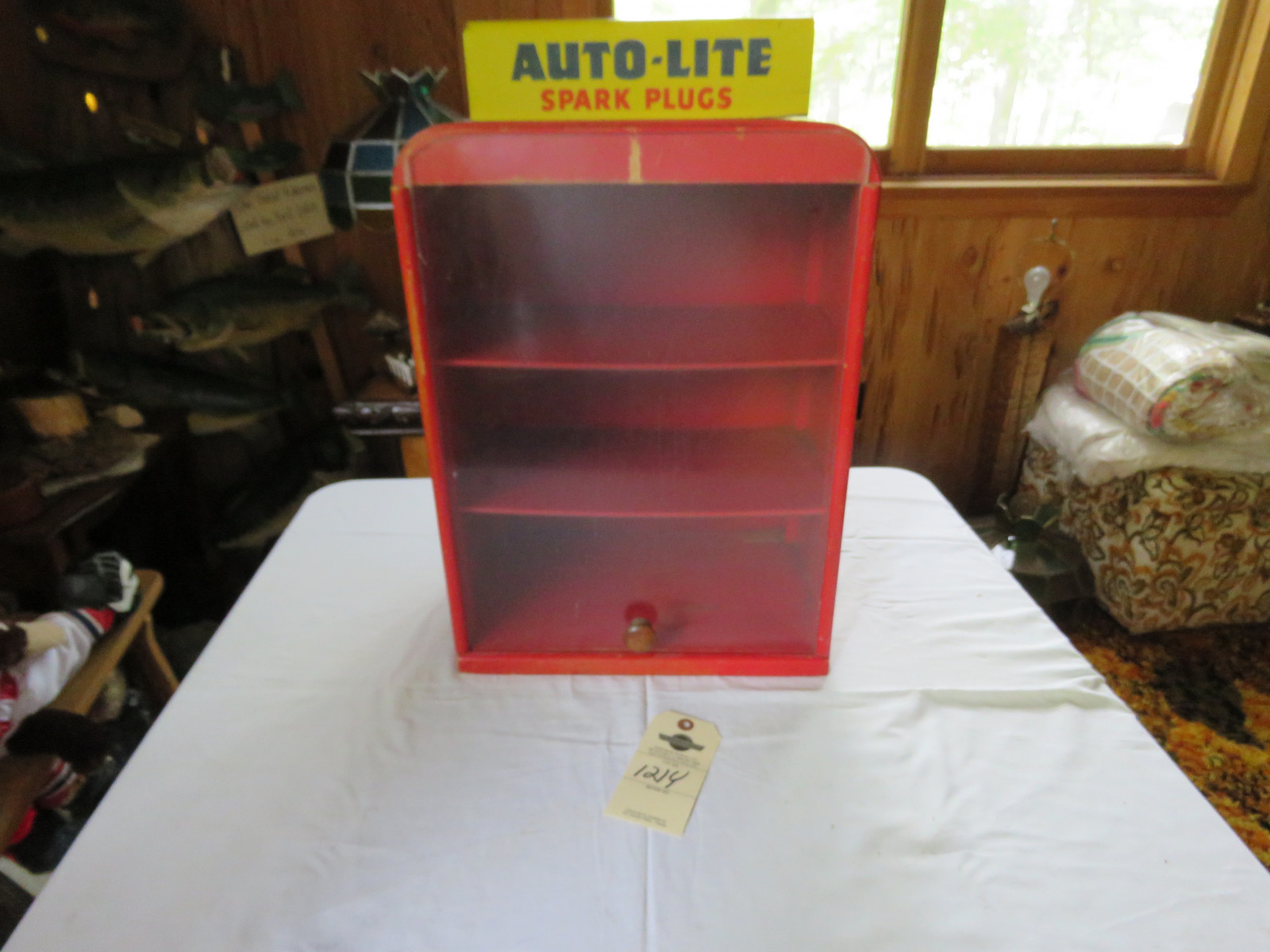 Auto-Lite Painted Tin Cabinet - Image 1
