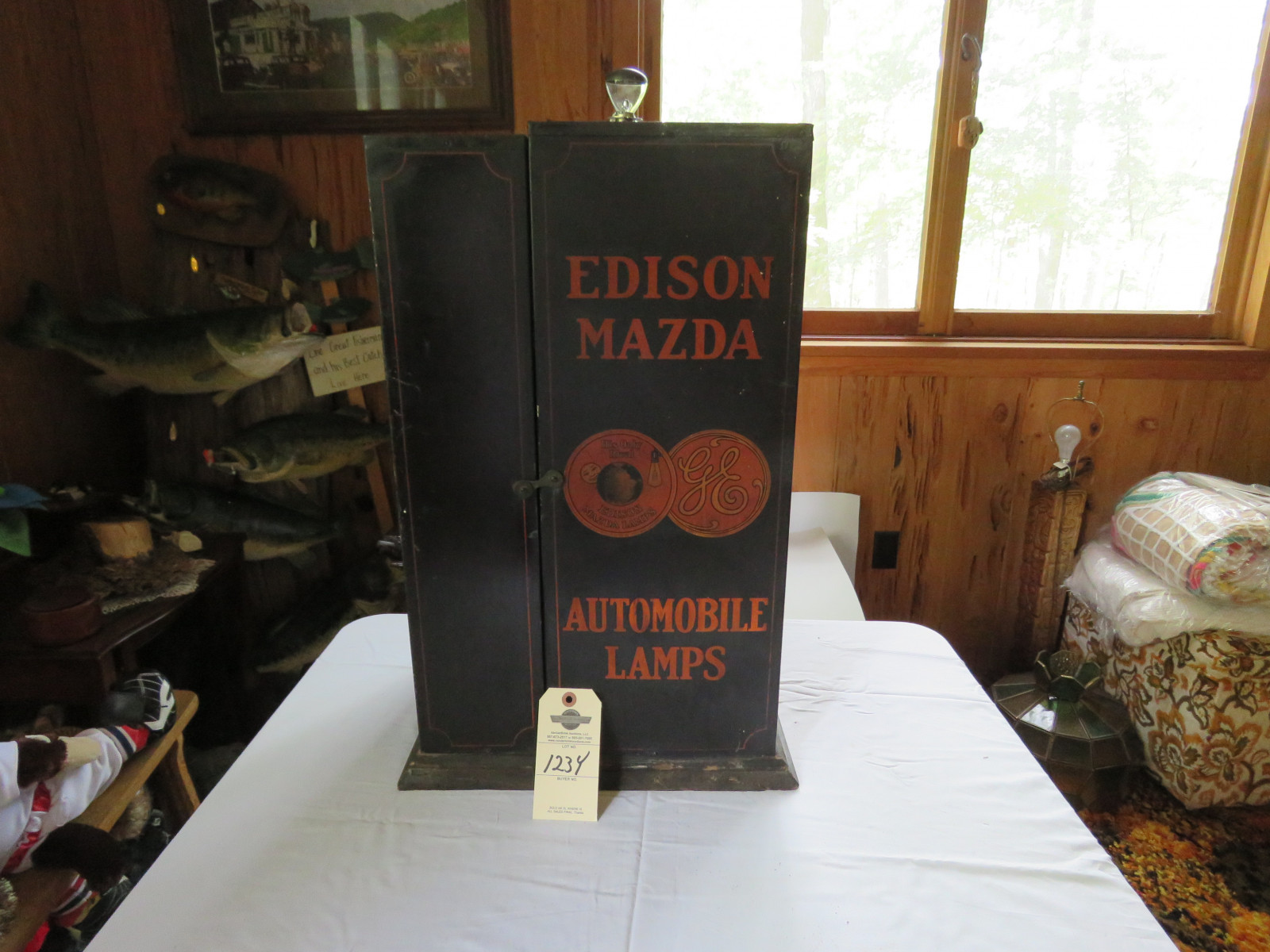 Rare Eveready -Mazda Light Advertising Rack - Image 1