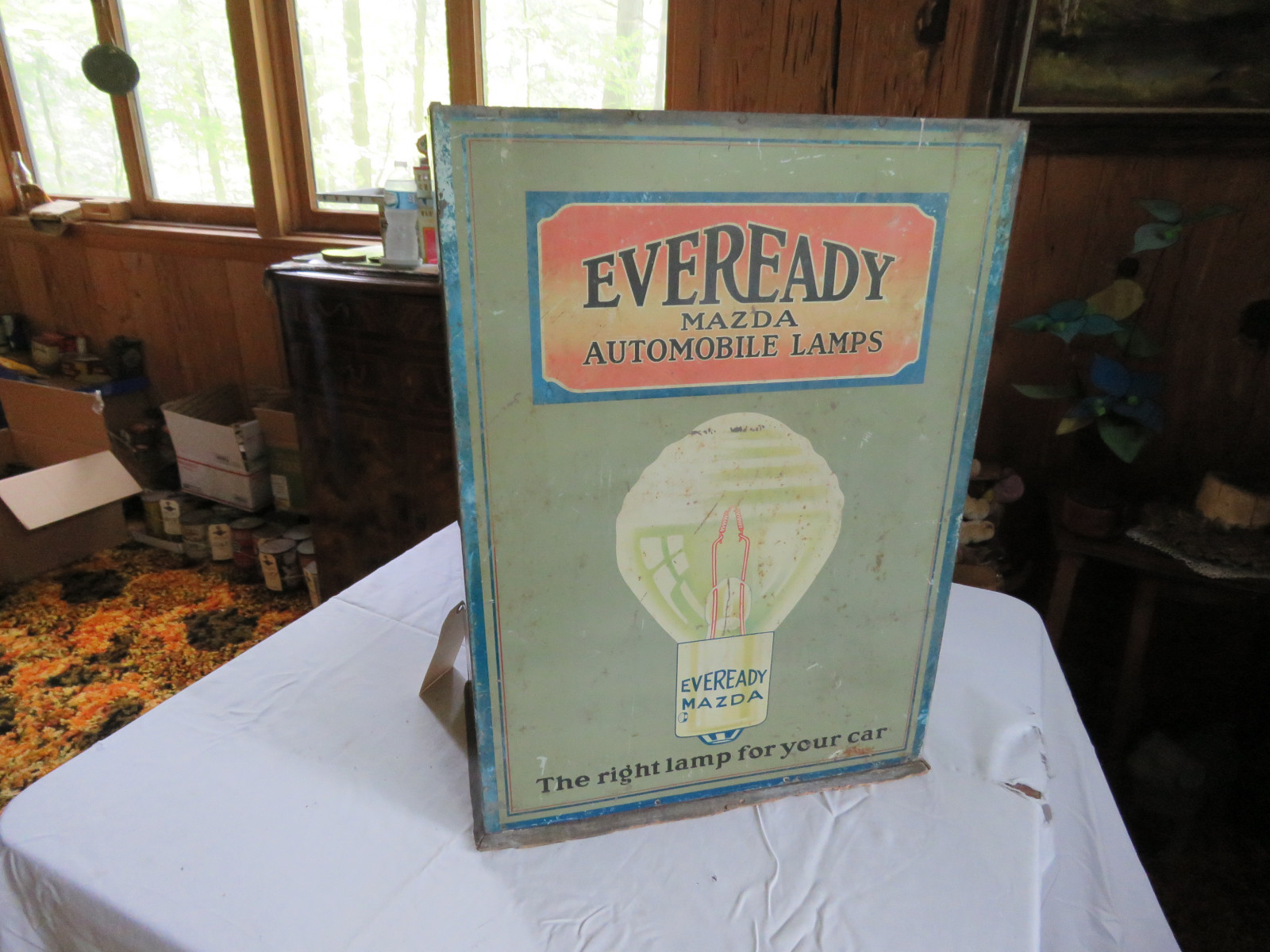 Eveready Advertising Rack- Painted Tin - Image 2