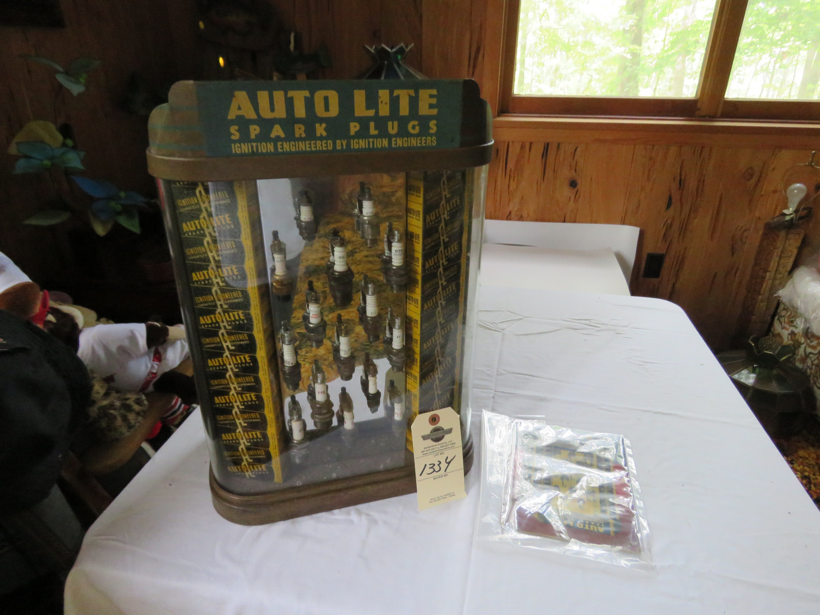 Vintage Auto Lite Spark Plug Metal Display Case and Manual - Image 1