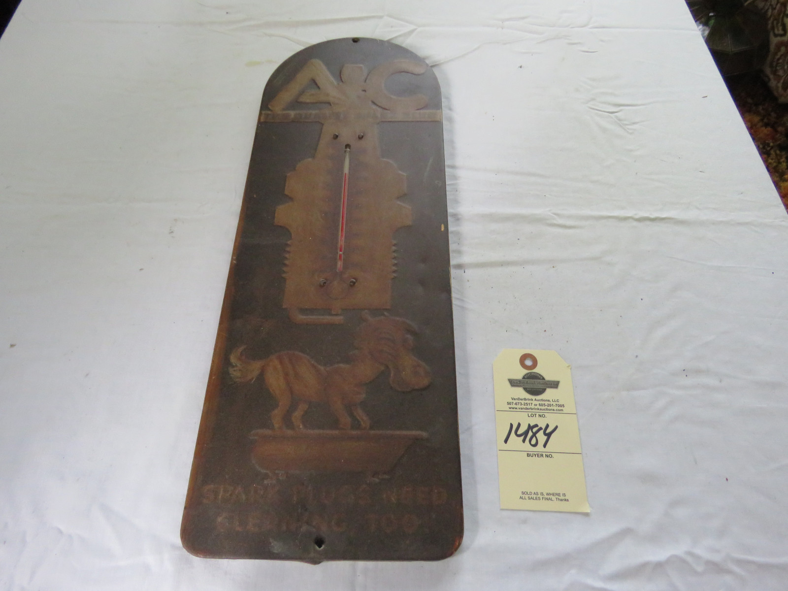 Rare AC Delco Advertising Thermometer- with Horse- Plug - Image 1