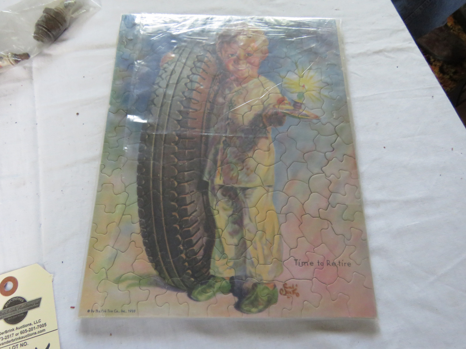 RARE Fisk Tires Puzzle and Advertising Display - Image 2