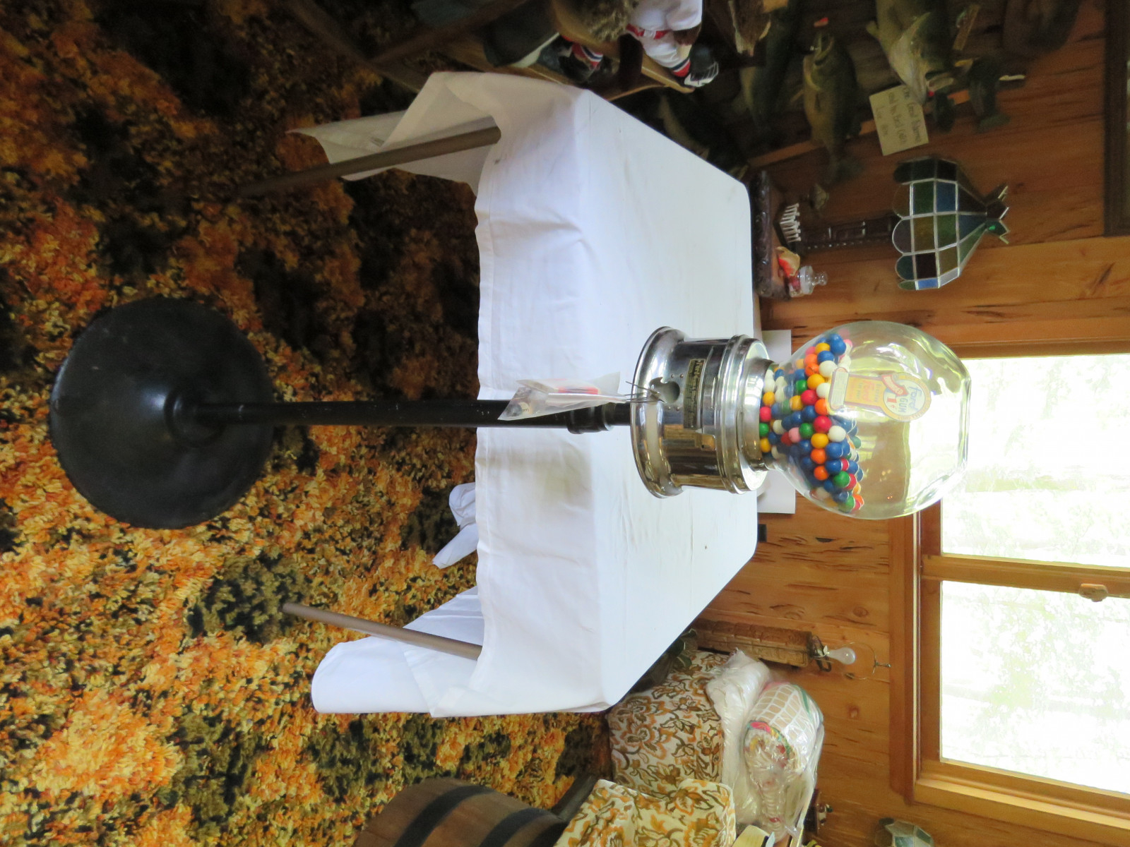 Rare Factory Ford Gumball Machine with Ford papers and Gumballs-Glass - Image 1