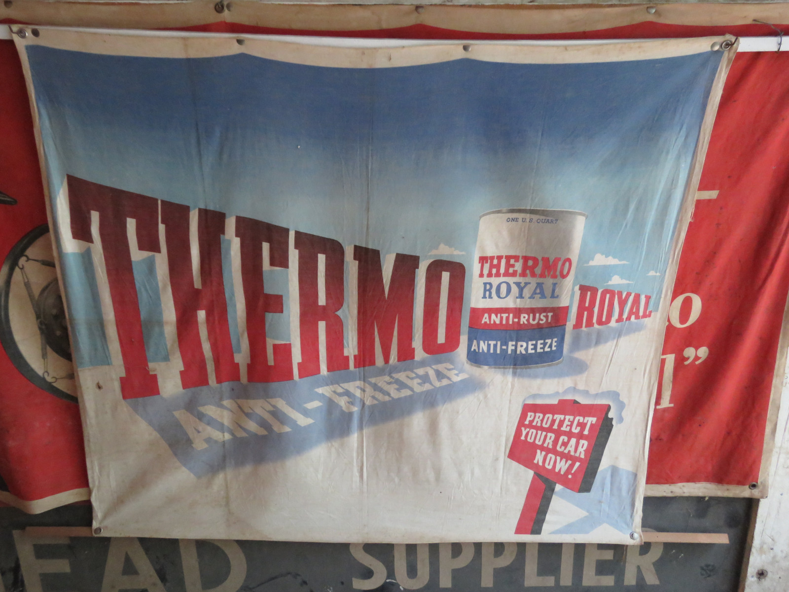 Thermo-Royal Antifreeze Banner 43.5X37.5 inches - Image 1