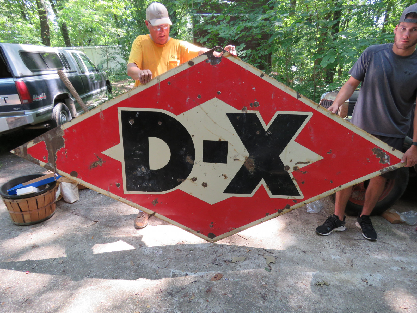 DX Double Sided Porcelain Sign 9x5 ft - Image 1