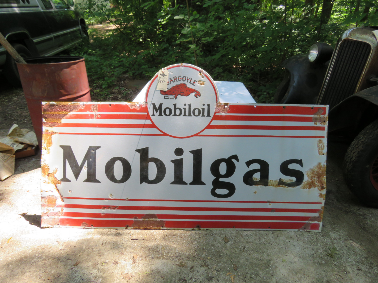 MobilOil Single Sided Porcelain Sign 4x6 ft - Image 1