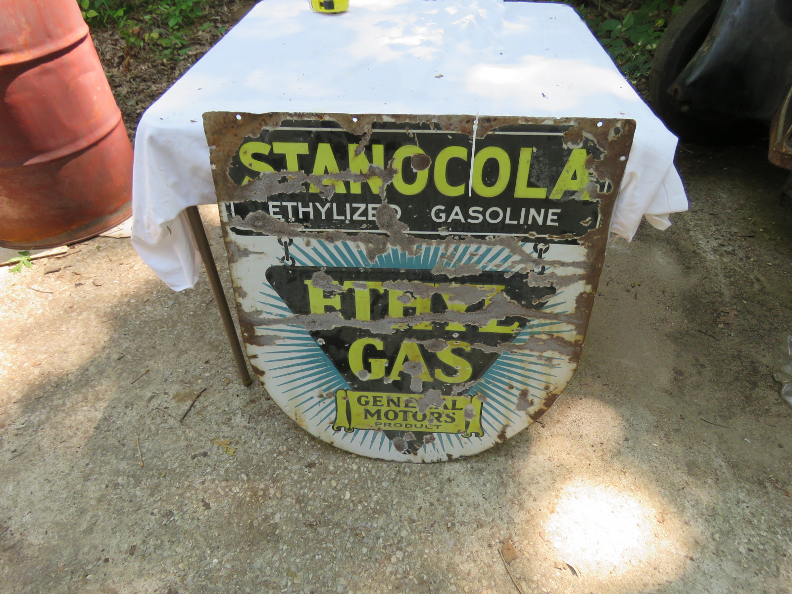 Ethyl Gas DS Porcelain Sign 26x30 inches - Image 2