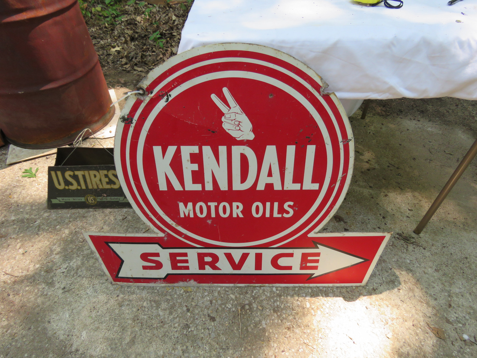 Kendall Oil Painted Tin DS Sign 28x36 inches - Image 2
