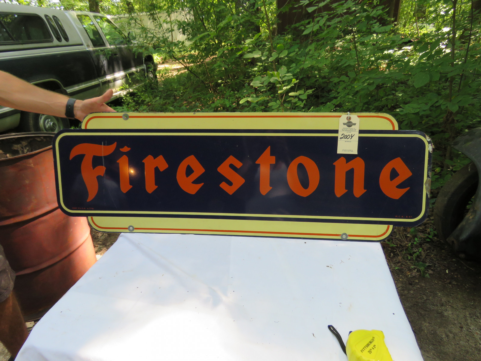 Firestone DS Painted Tin 14