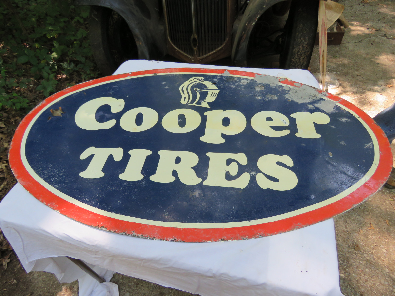 Cooper Tires DS painted Tin Sign 30