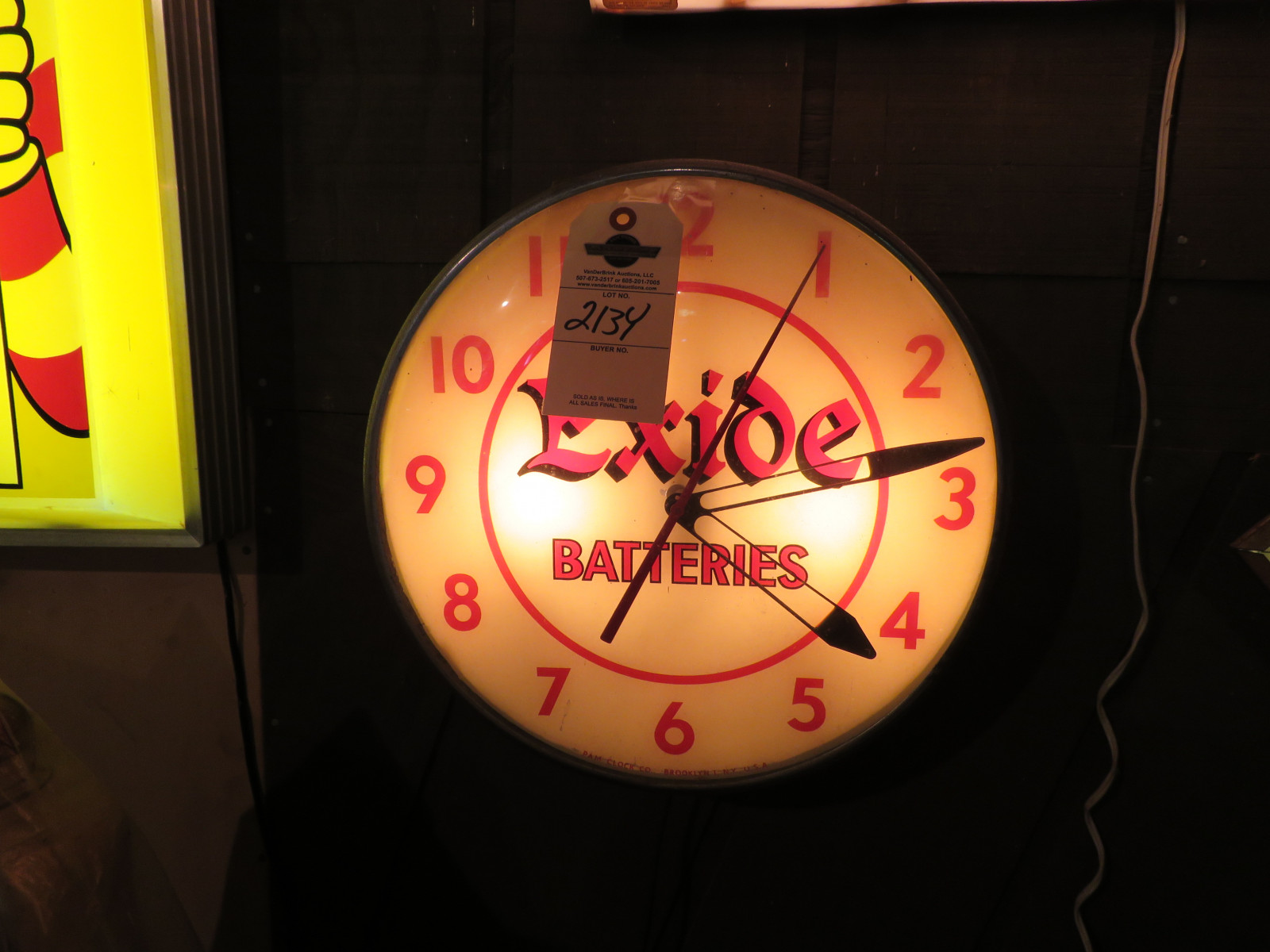 Exide Batteries Clock - Image 1
