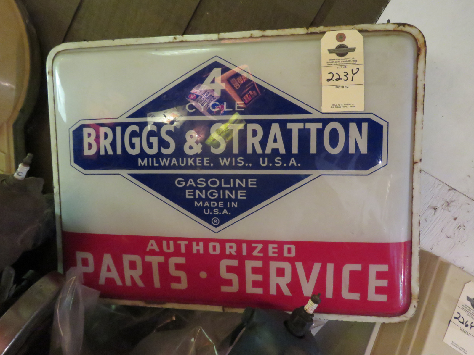 Briggs & Stratton Light Advertising Service Sign- Nonworking - Image 1