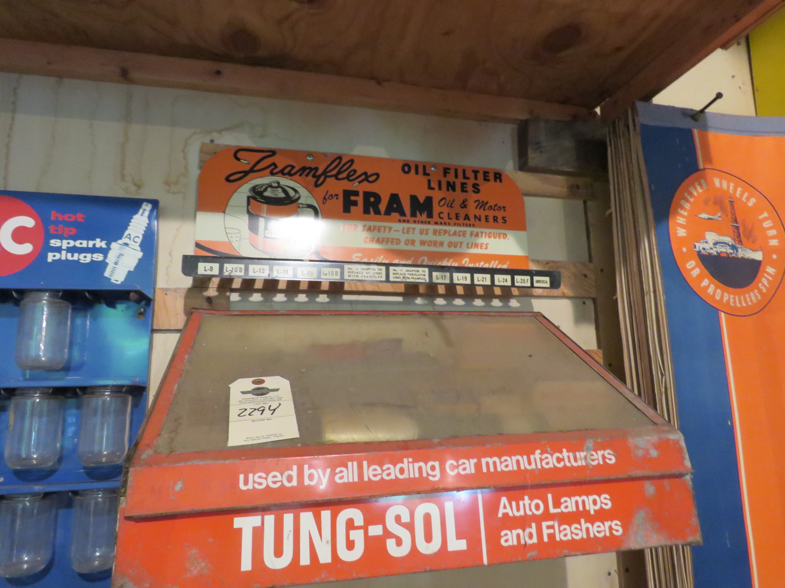 FRAM and Tungsol Display metal Rack - Image 1