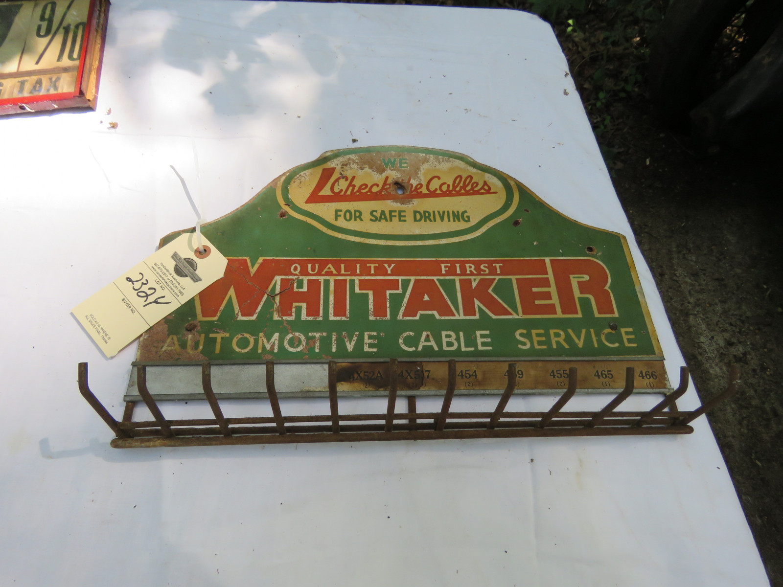 Whitaker Painted Tin Rack - Image 1