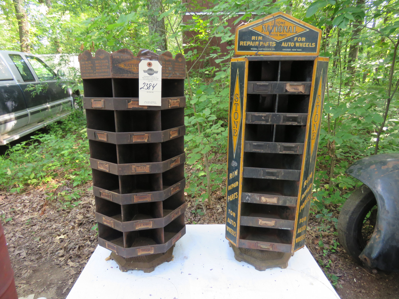 2- Vintage Painted Tin National Display Point of Sale Racks - Image 1