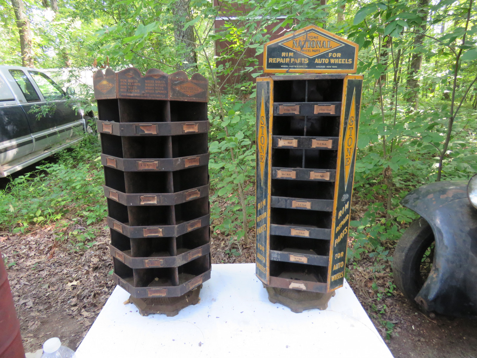 2- Vintage Painted Tin National Display Point of Sale Racks - Image 2