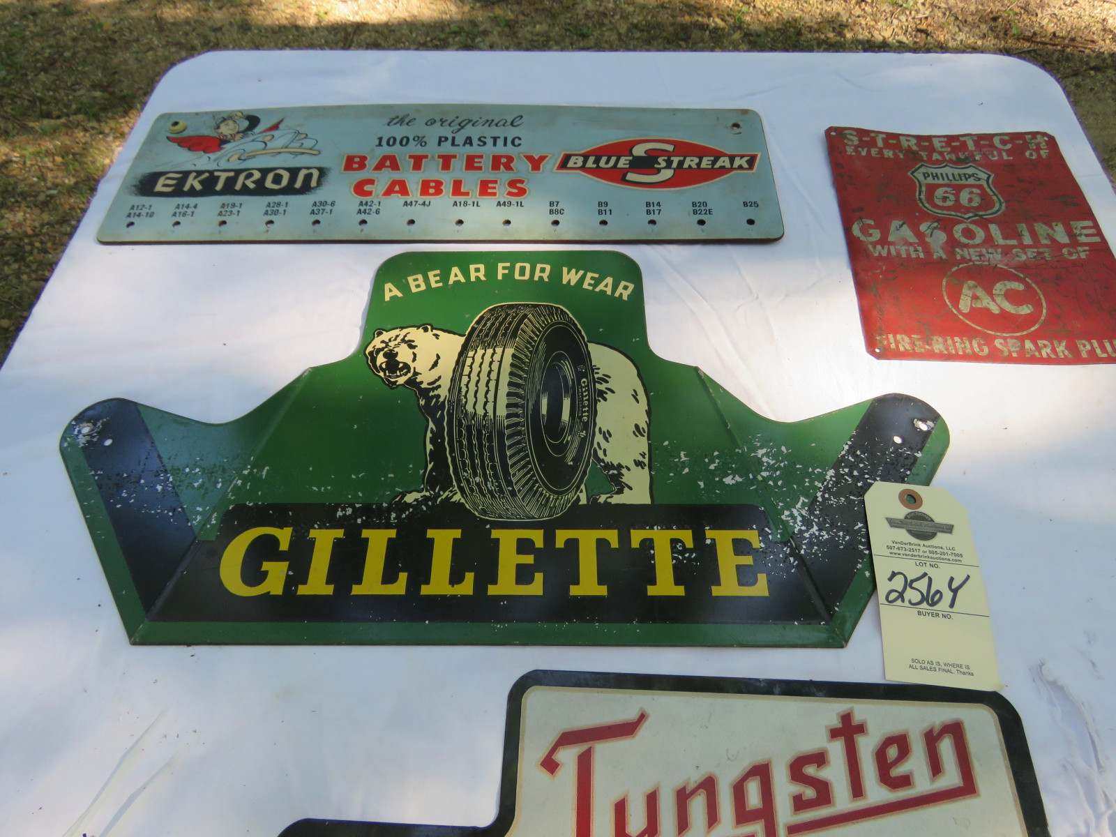 Vintage Painted Tin Sign Display Grouping - Image 3