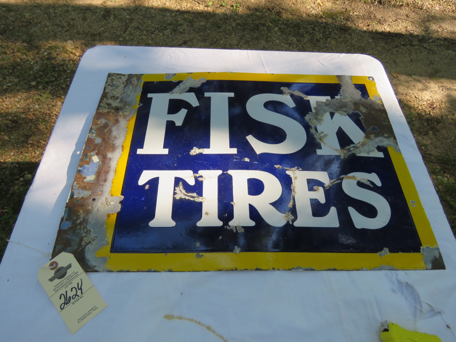 Fisk Tires DS Porcelain Sign 20X28 inches - Image 1