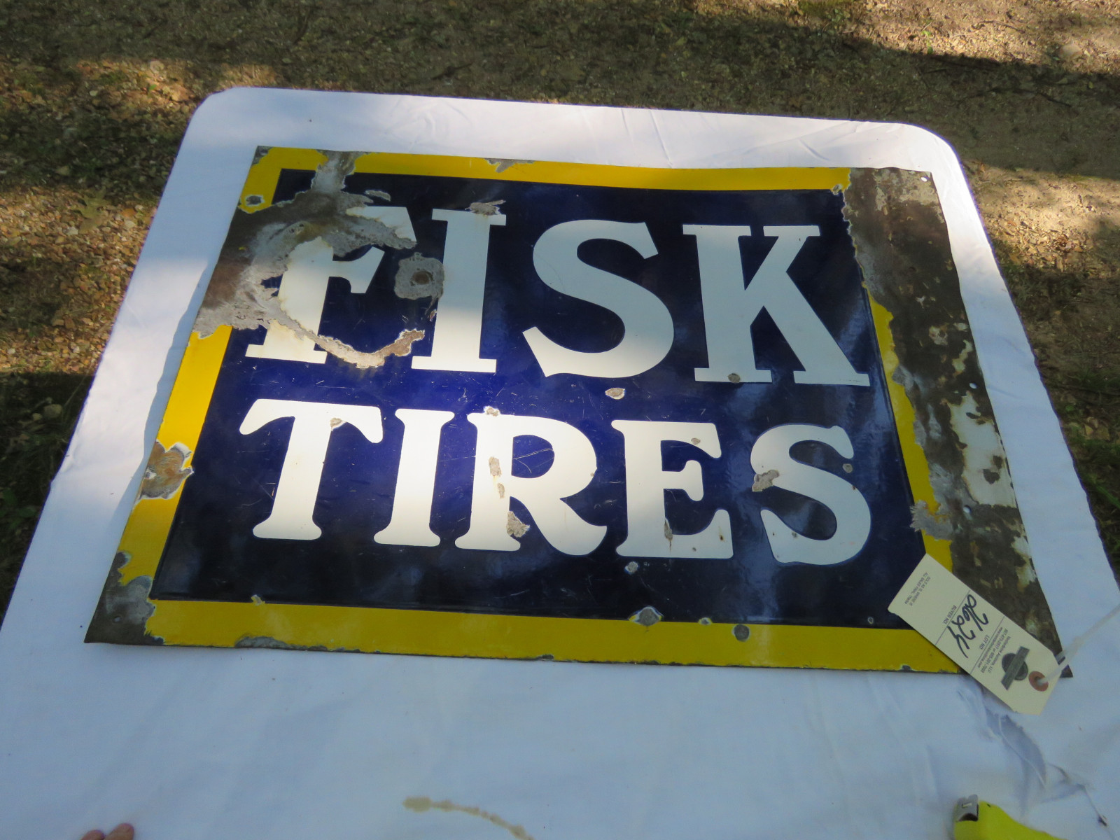Fisk Tires DS Porcelain Sign 20X28 inches - Image 2