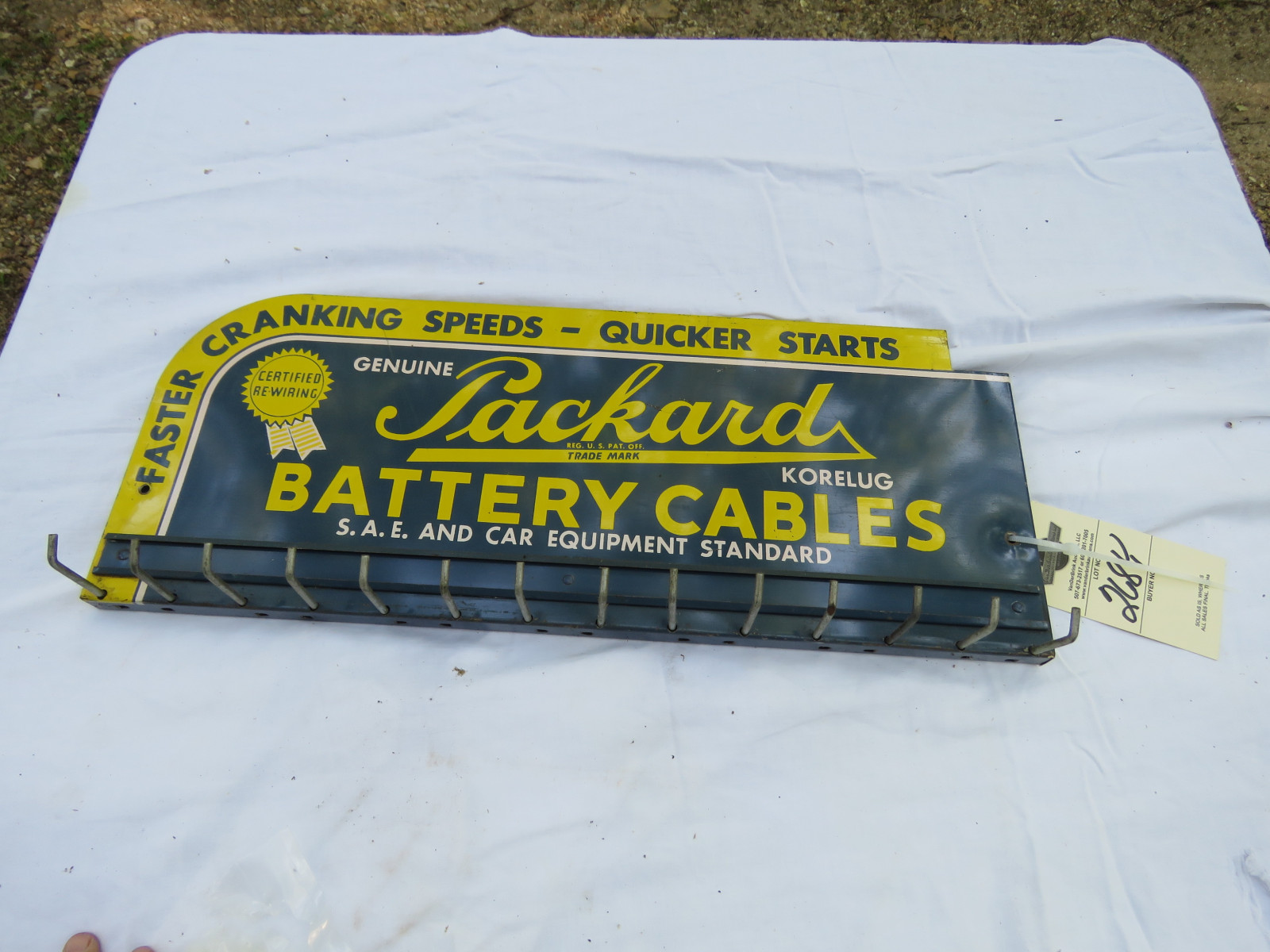 Packard Battery Cable Painted Tin Rack - Image 2
