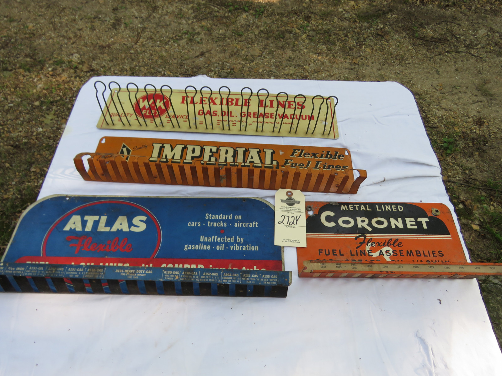 Group of Painted Tin Advertising Racks - Image 1