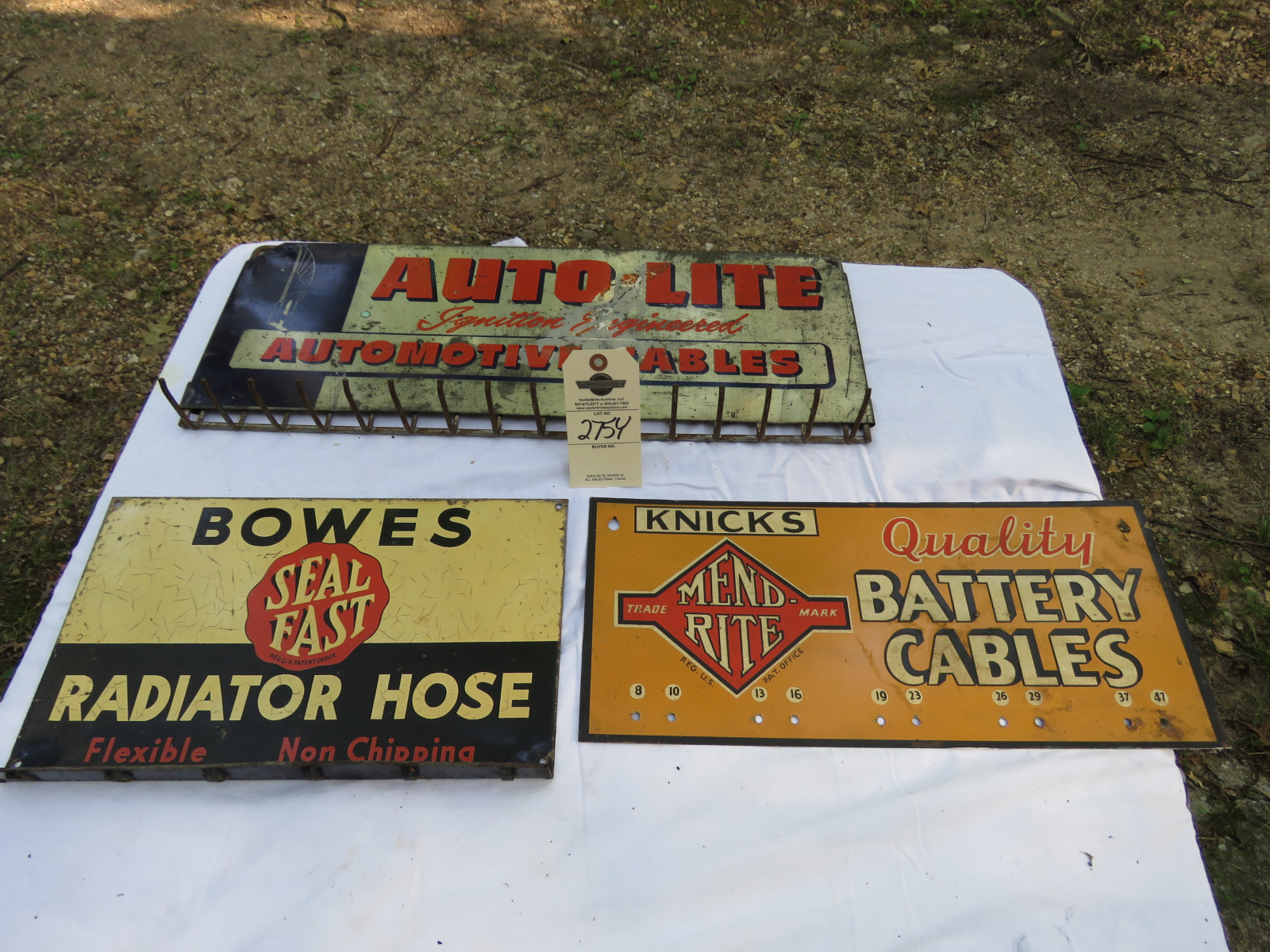Group of Advertising Painted Tin Racks - Image 1