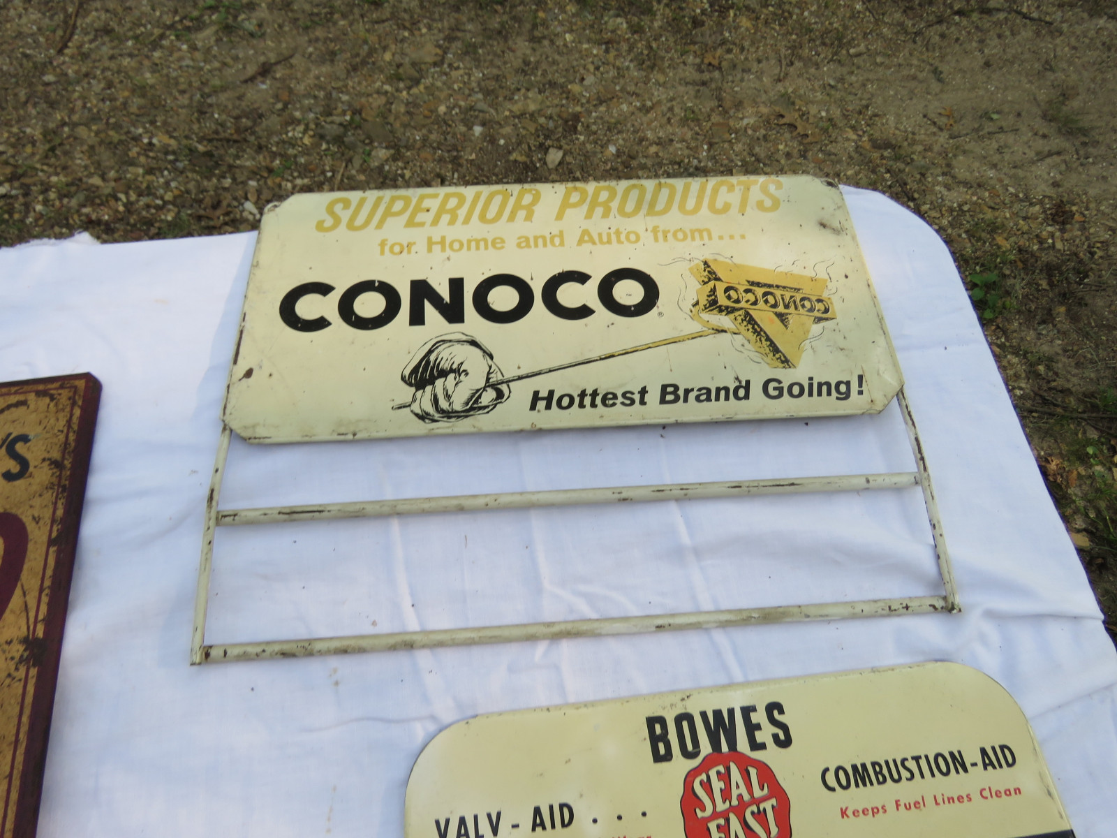 Group of Advertising Painted Tin Racks - Image 4
