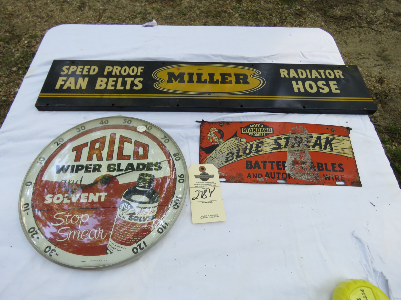 TRICO Advertising Group Painted Tin - Image 1